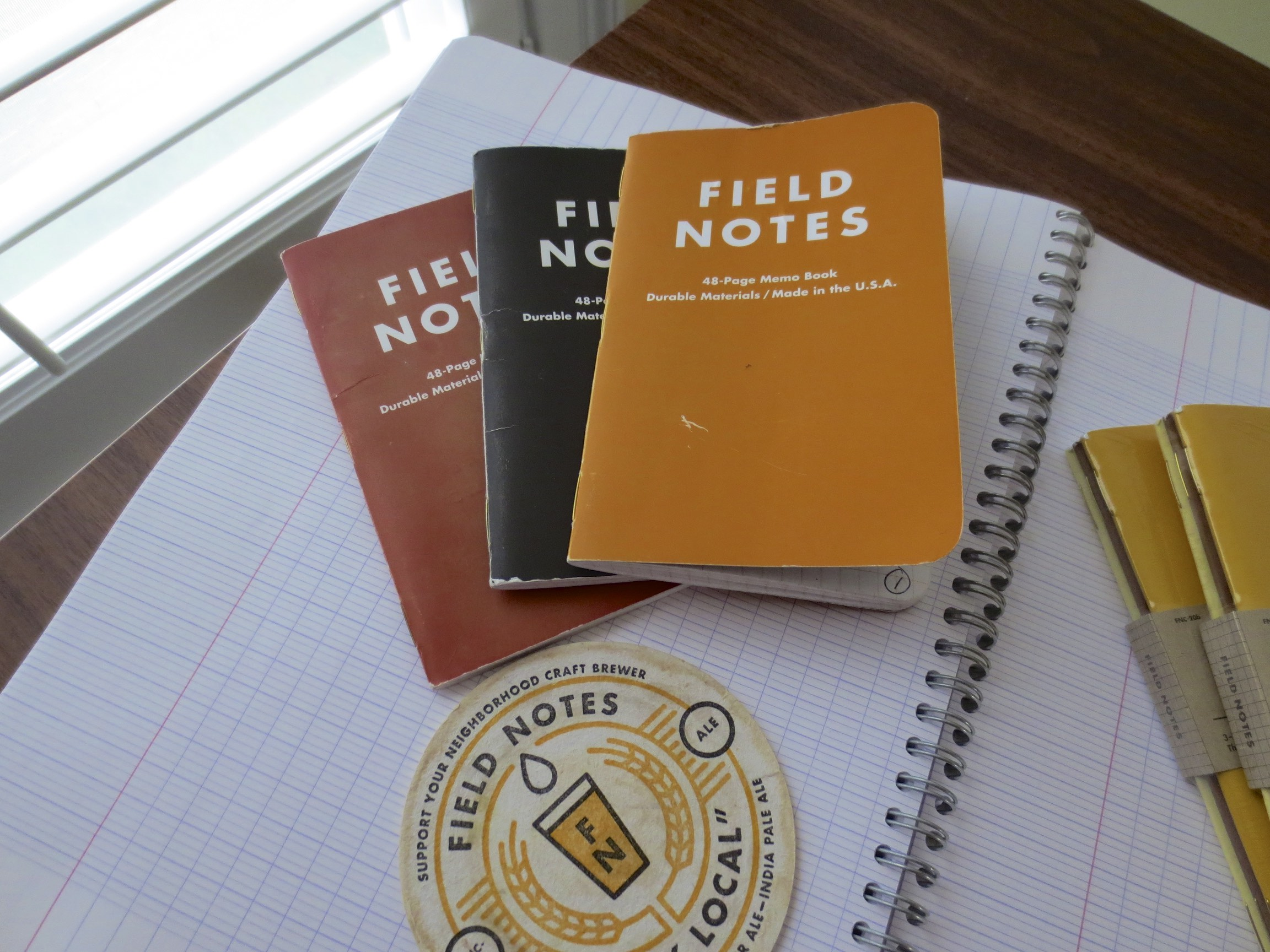 My favorite Field Notes Colors edition:  Drink Local, Ales.  I've stocked up and have a healthy supply of both Ales and Lagers.
