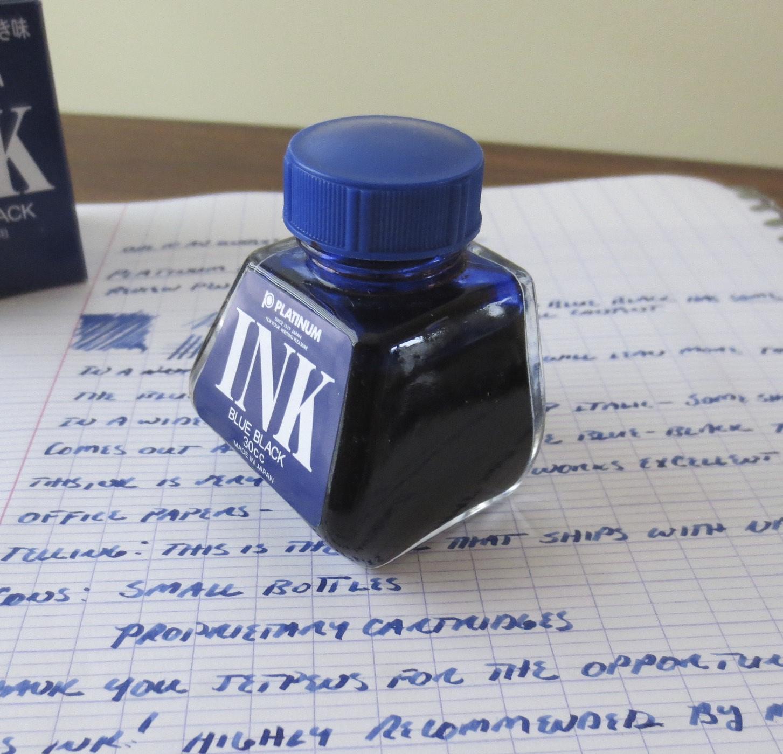 Platinum Blue-Black Bottle