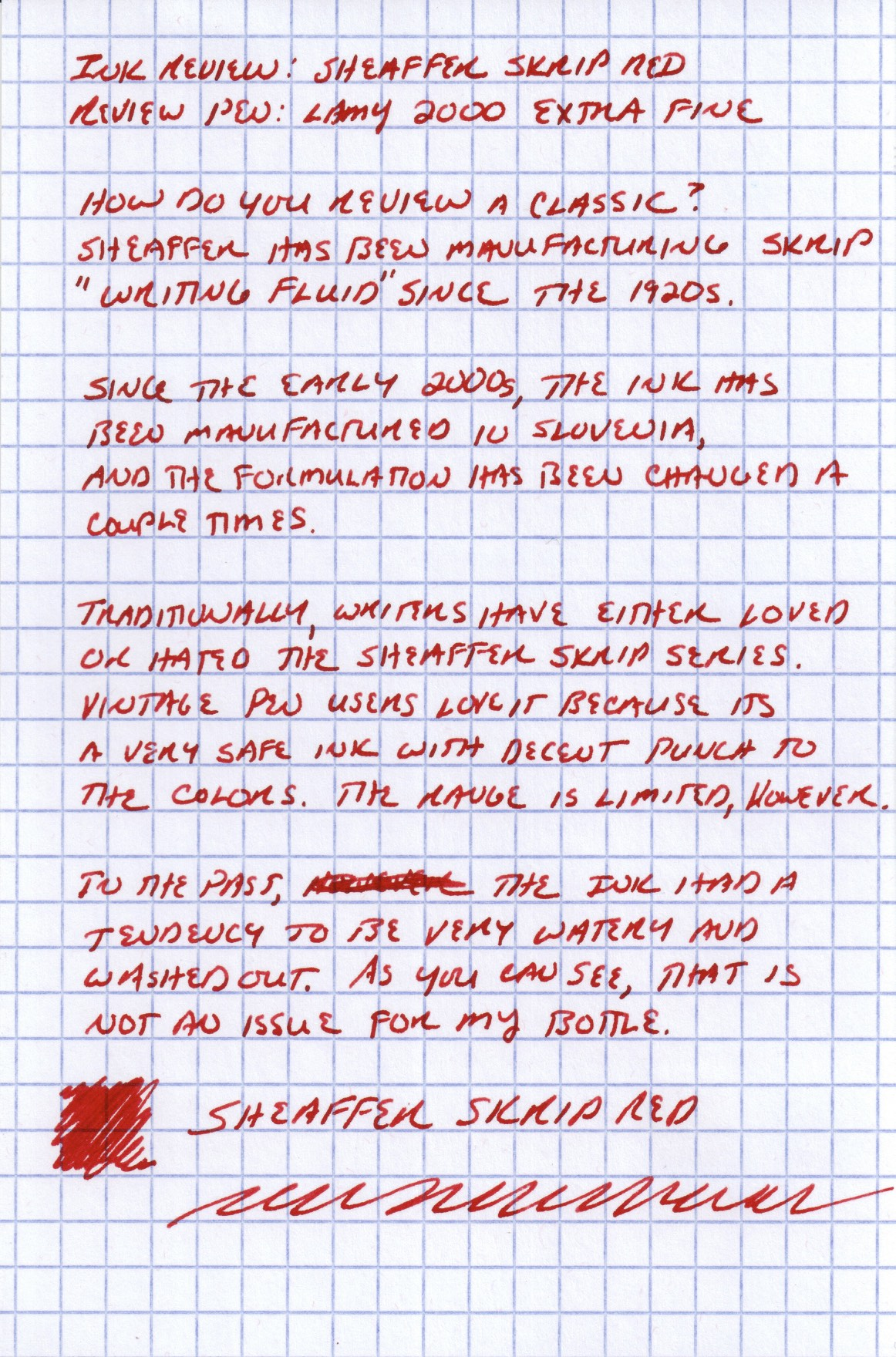 Skrip Red Handwritten Review