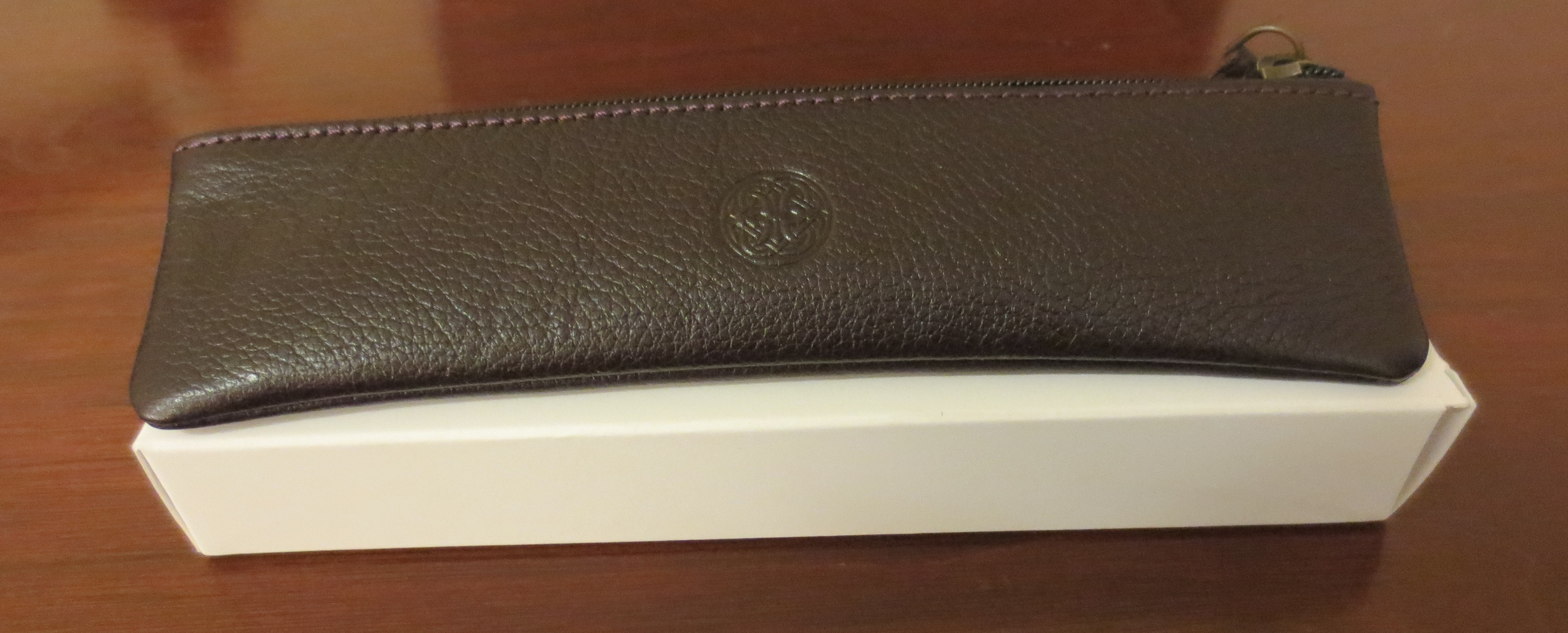New Franklin-Christoph packaging.  I love the useful leather pen case/carryall.  (I now have two of them.)