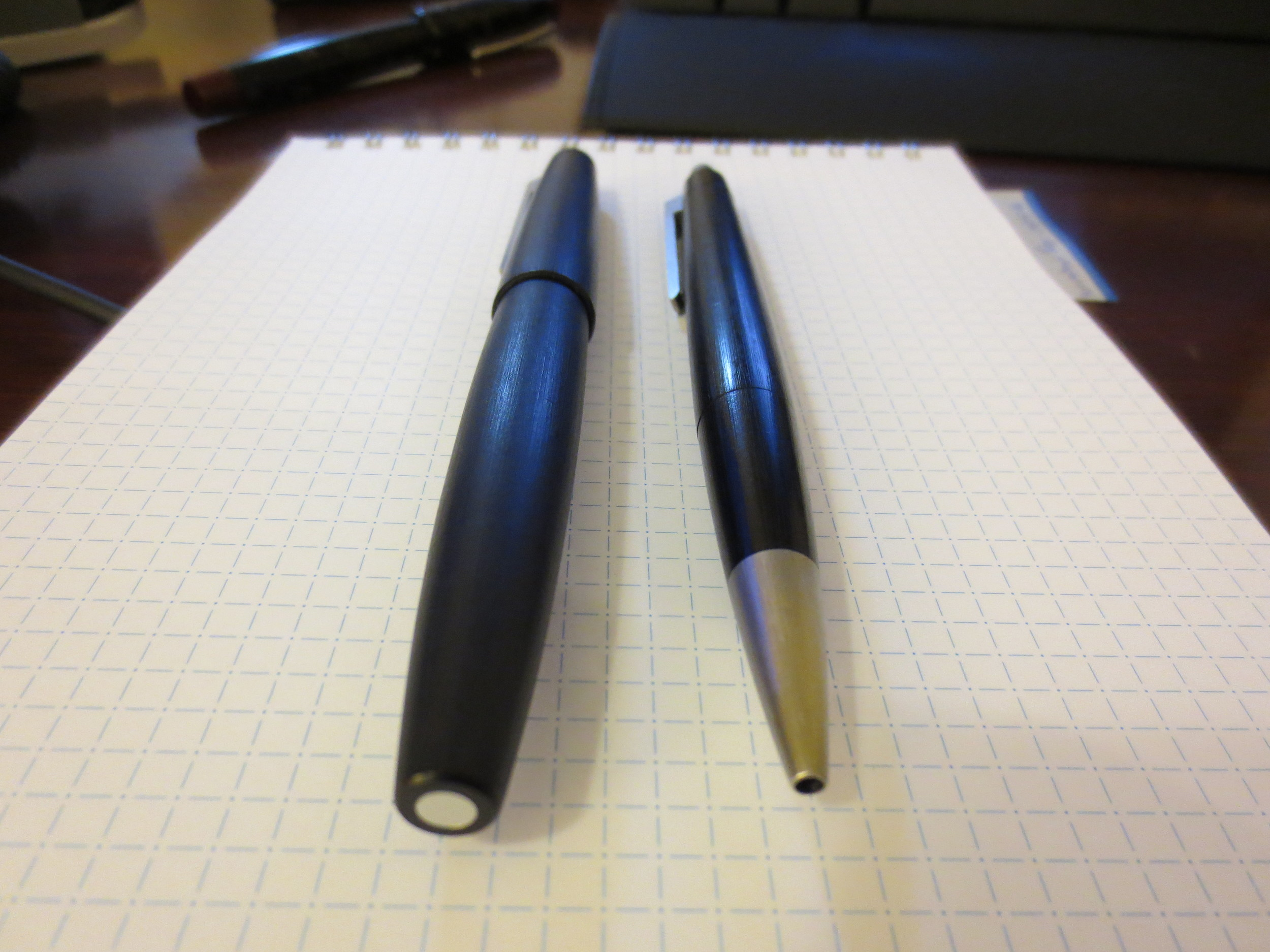 The Lamy 2000 Fountain Pen and Ballpoint side-by-side.