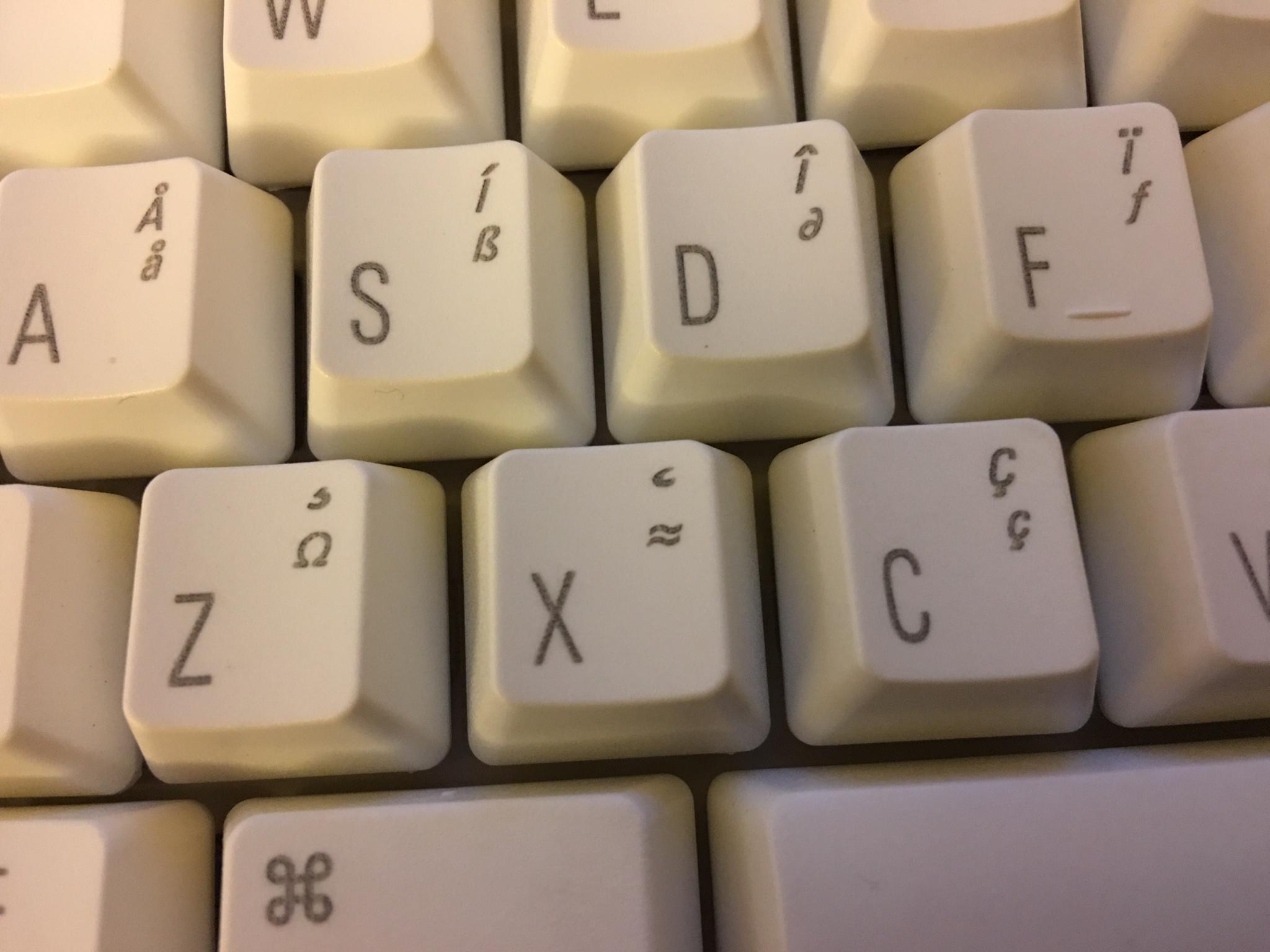 Matias Tactile Pro Etched Keycaps