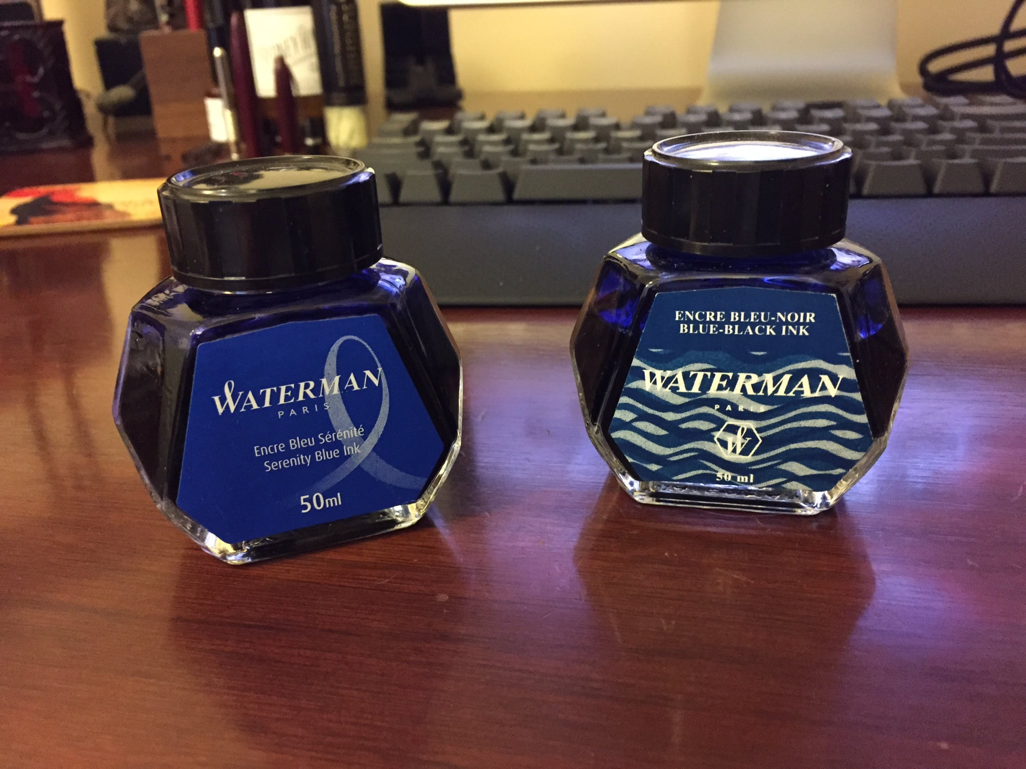 Waterman Blue and Blue-Black