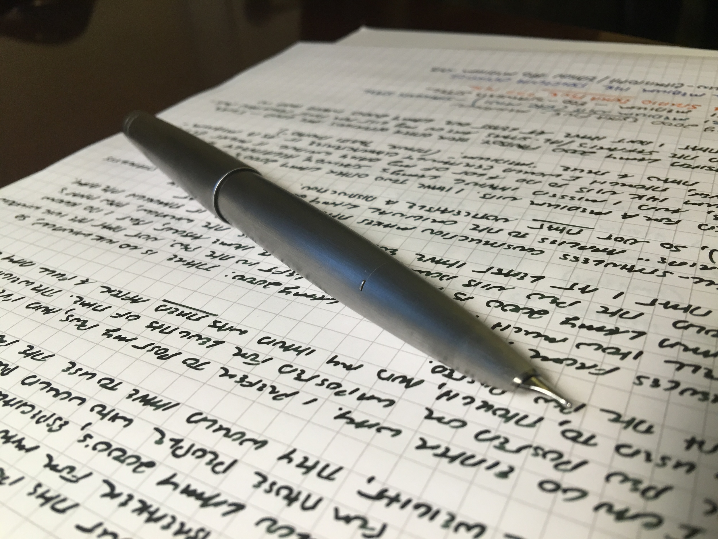 The Lamy 2000 Stainless Steel: the most recent evolution of a classic design.