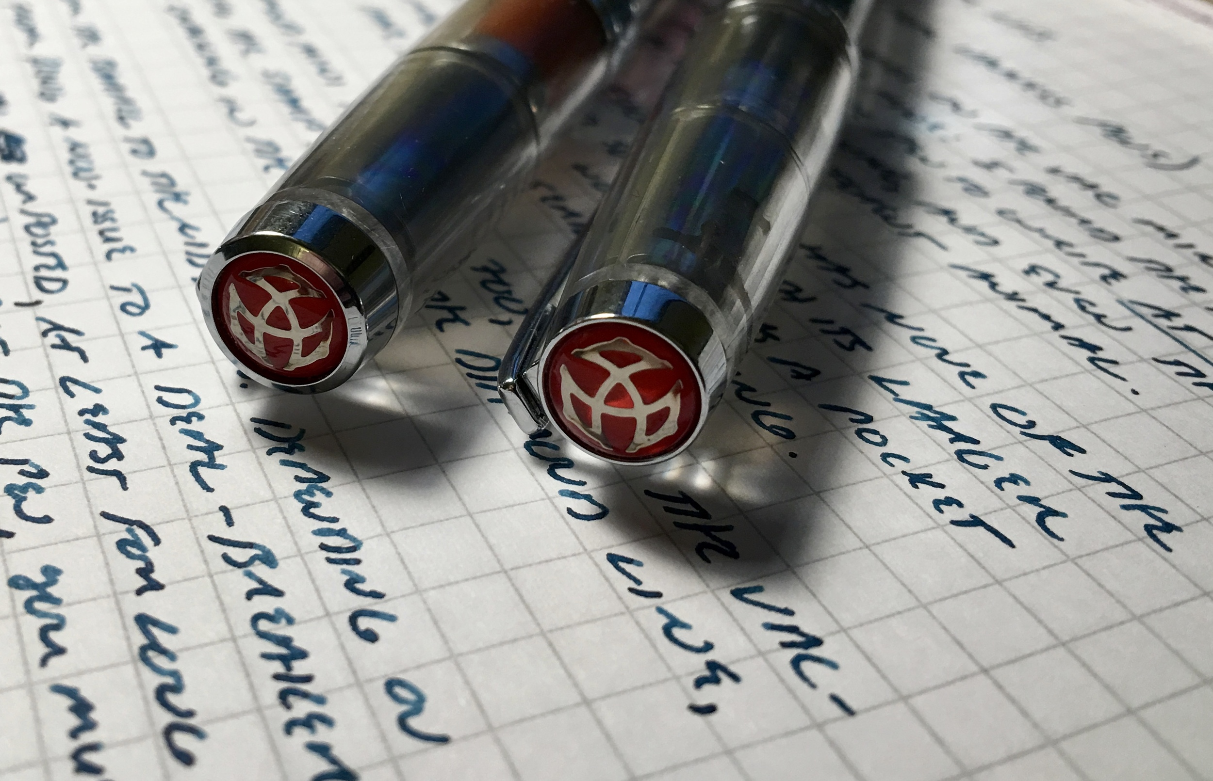 AND....it wouldn't be a TWSBI without the famous red logo on the top of the cap!