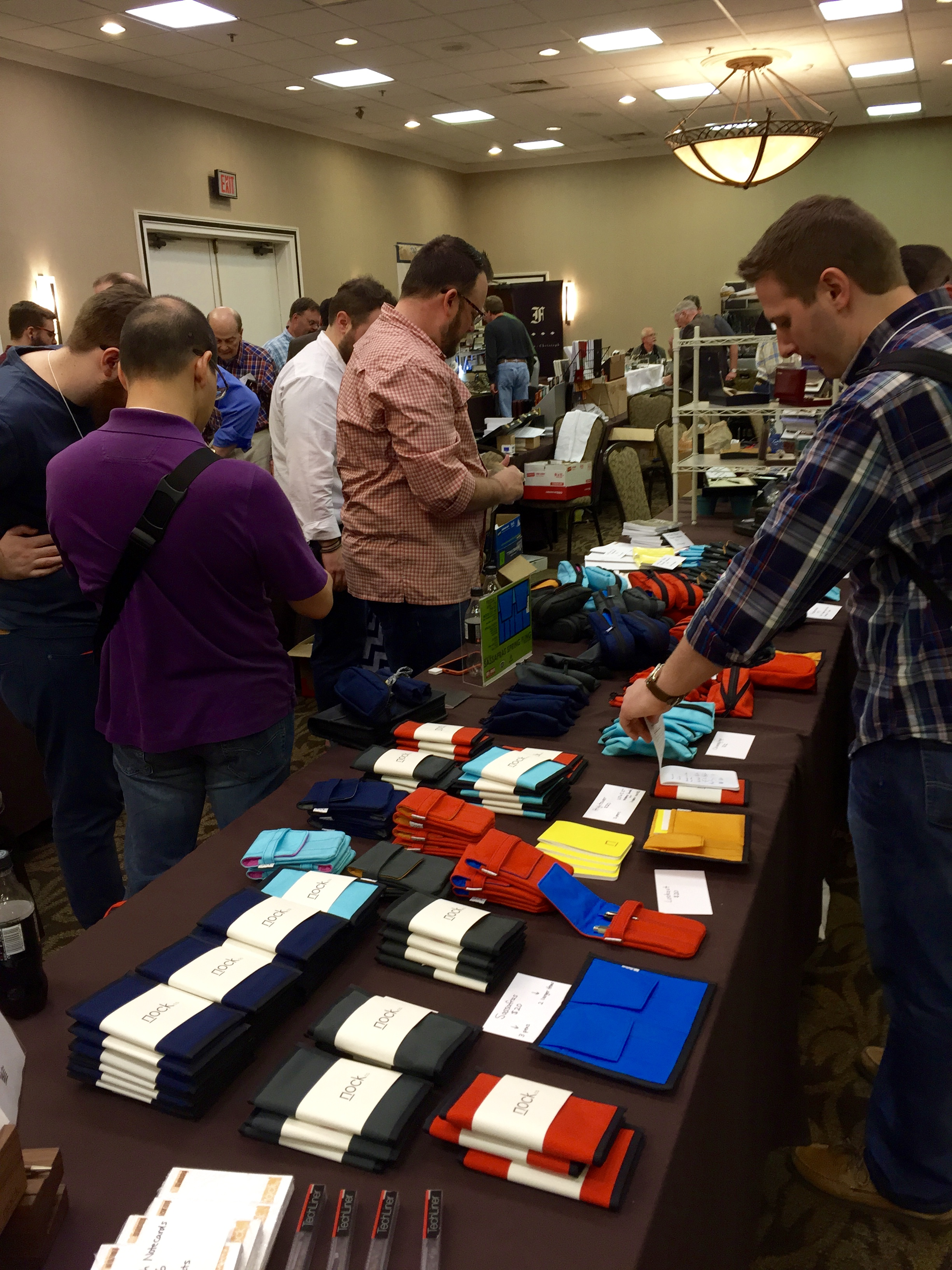 Scenes from the 2015 Atlanta Pen Show, which featured, on the whole, a much younger crowd and lots of new companies like Nock Co. and Franklin-Christoph. To many of the attendees, it was as if aliens landed on the hotel lawn.