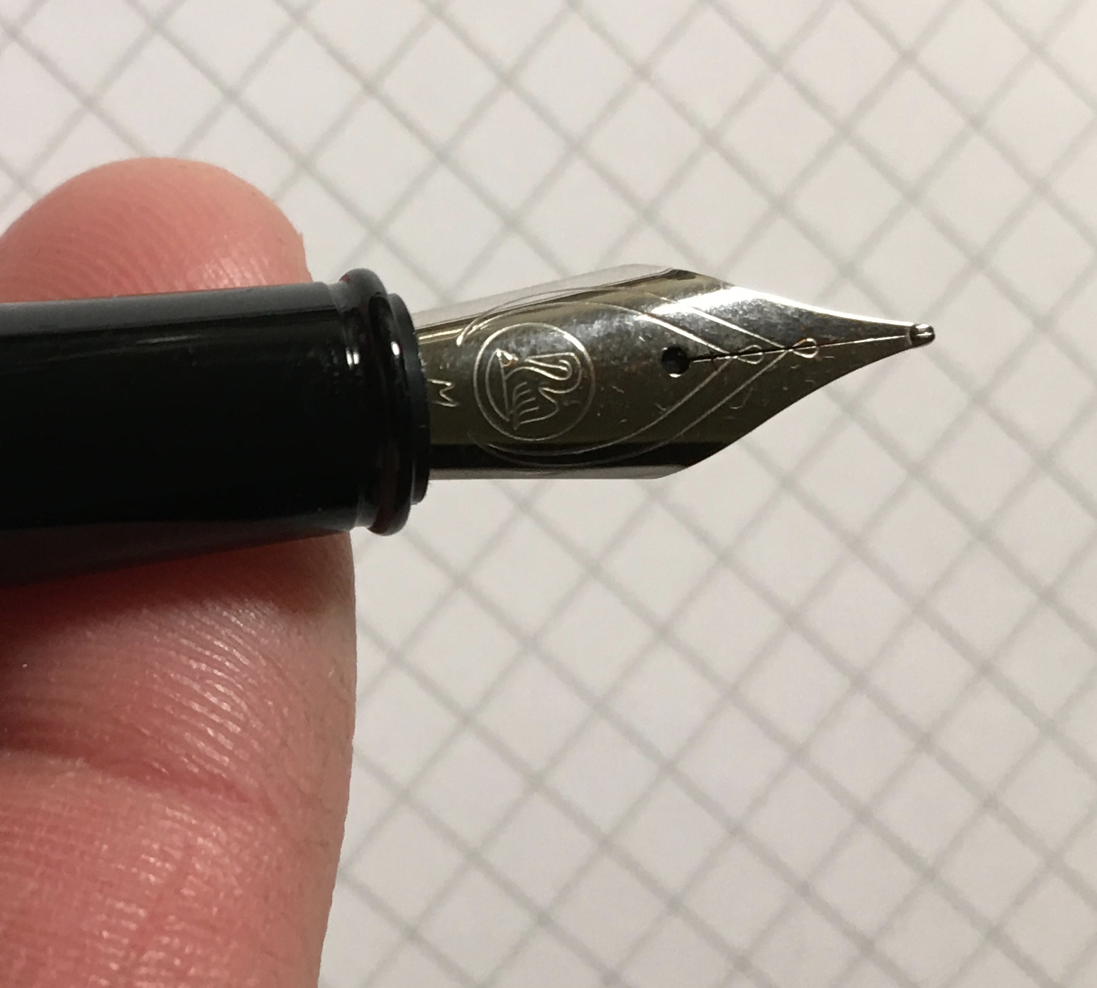 The Pelikan Stola only comes in a medium stainless steel nib.