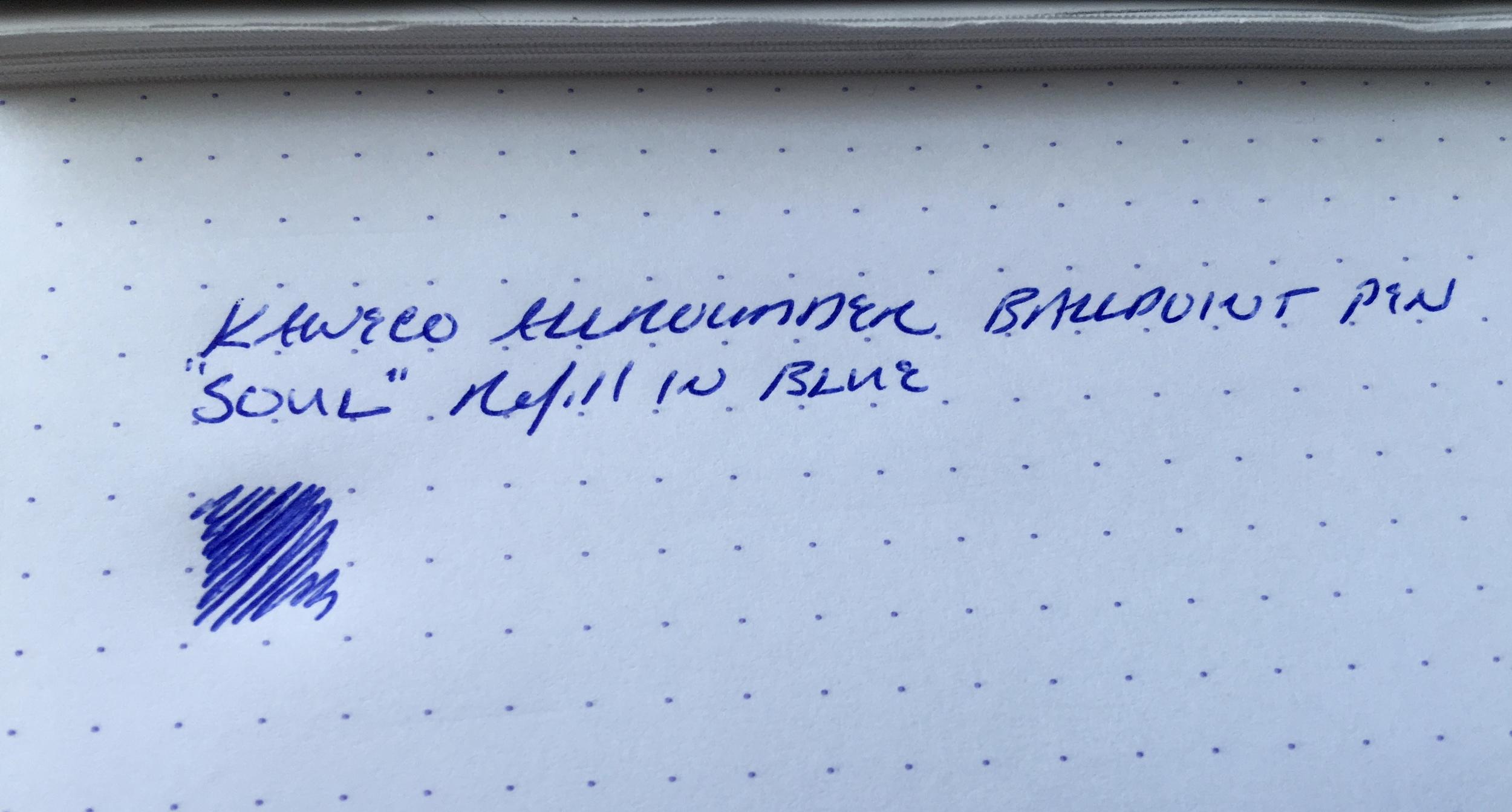 Kaweco Allrounder ballpoint writing sample