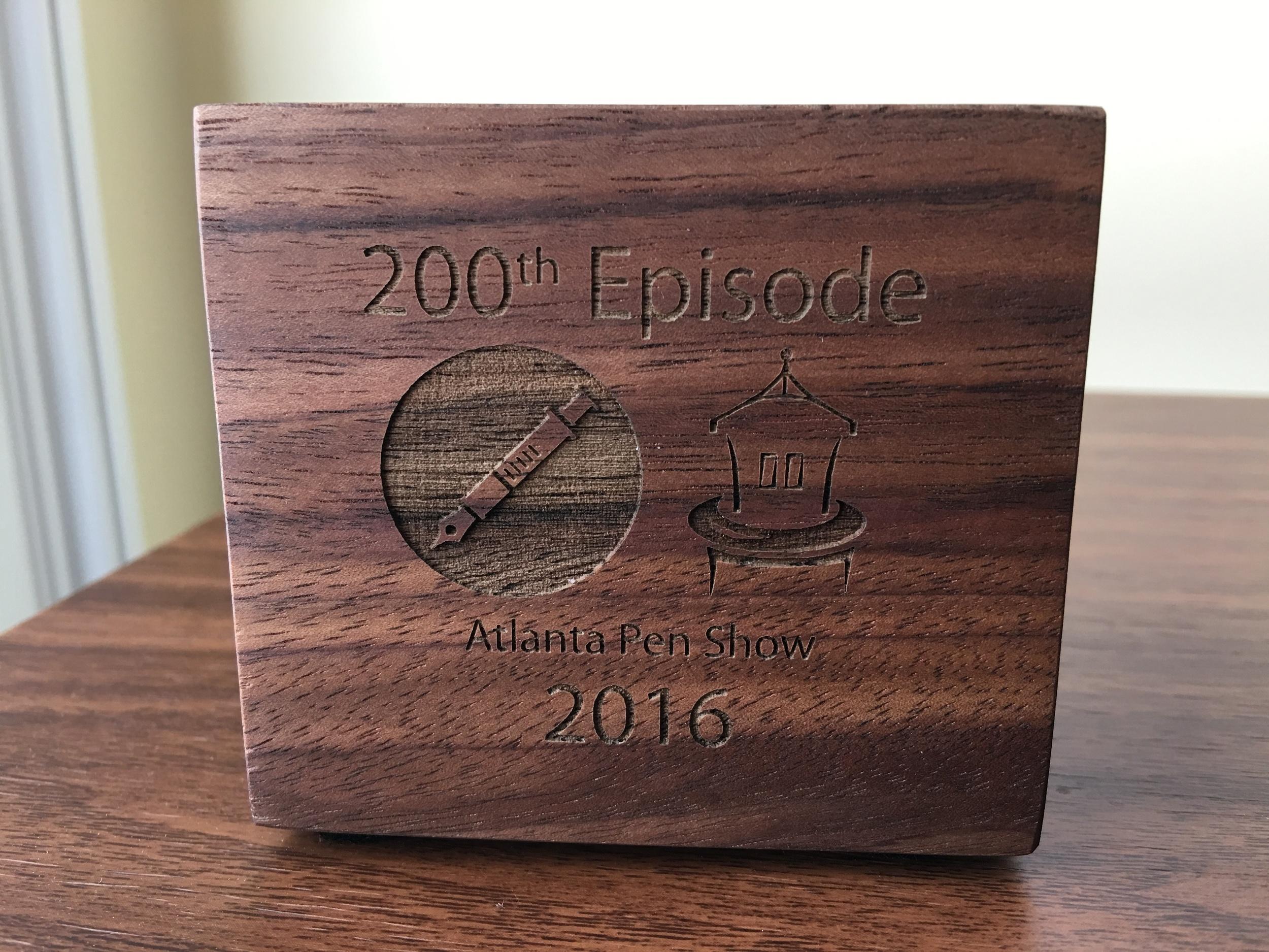 My 200th Episode/Atlanta Pen Show Commemorative Dudek Cube.