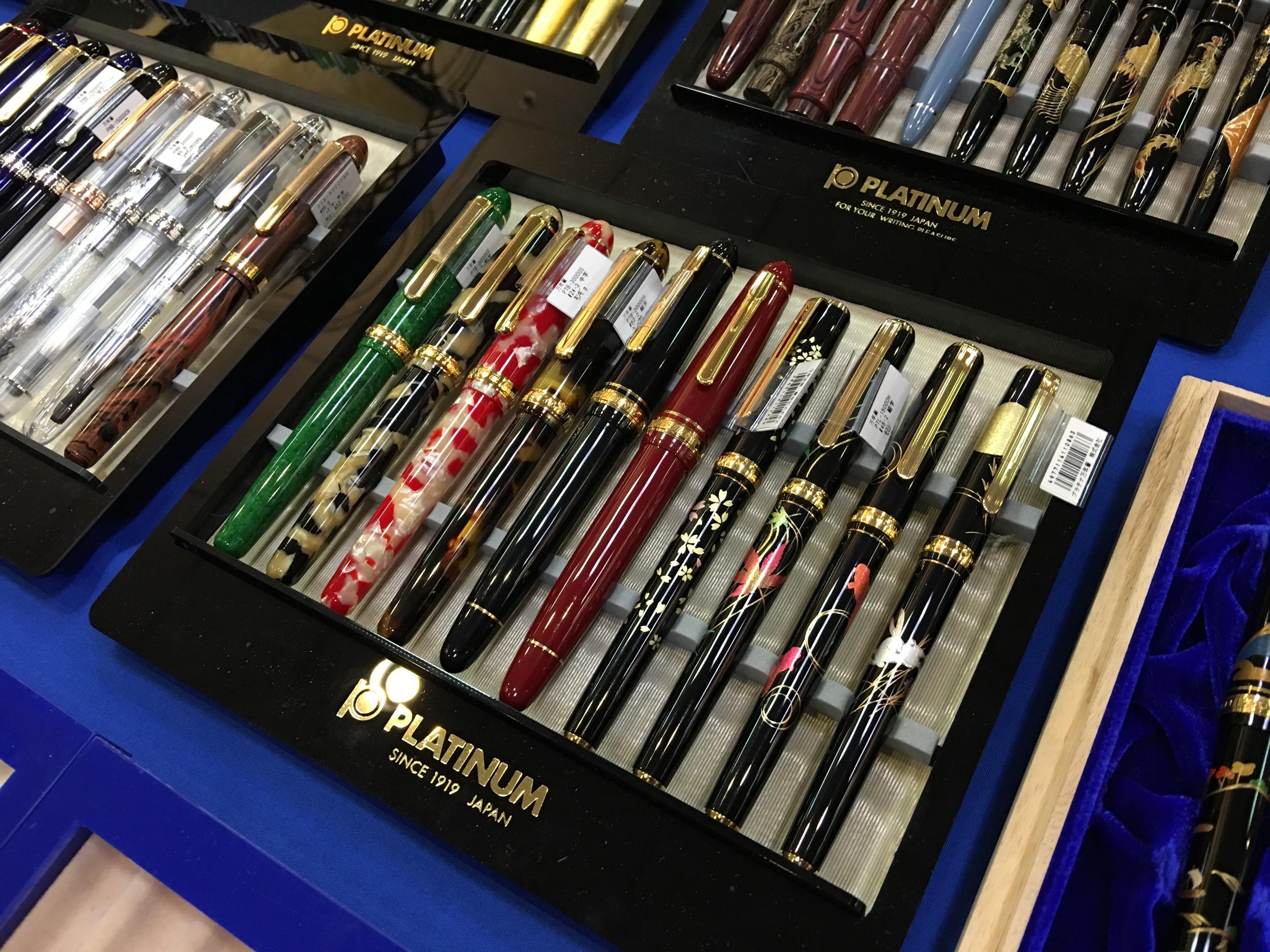 Platinum Celluloid Pens