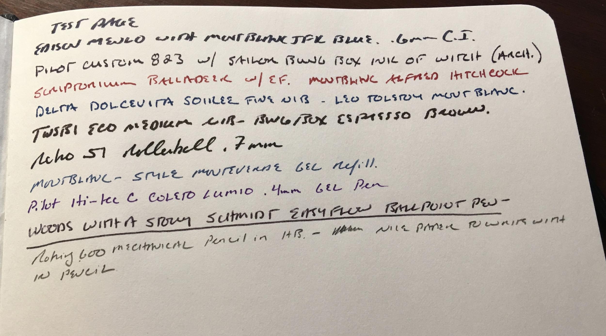 Monsieur Notebook Sample