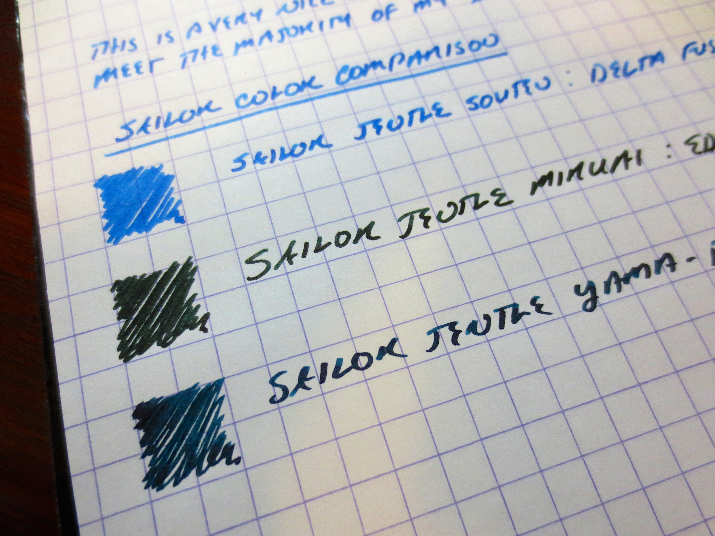 A few of my favorite Sailor Inks.
