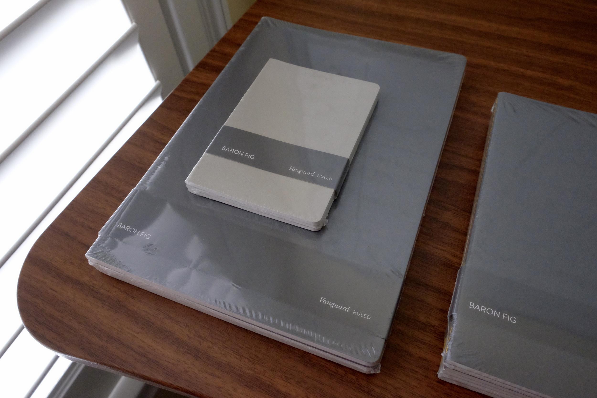 A size comparison of the Pocket-size Vanguard vs. the Plus-size Vanguard.