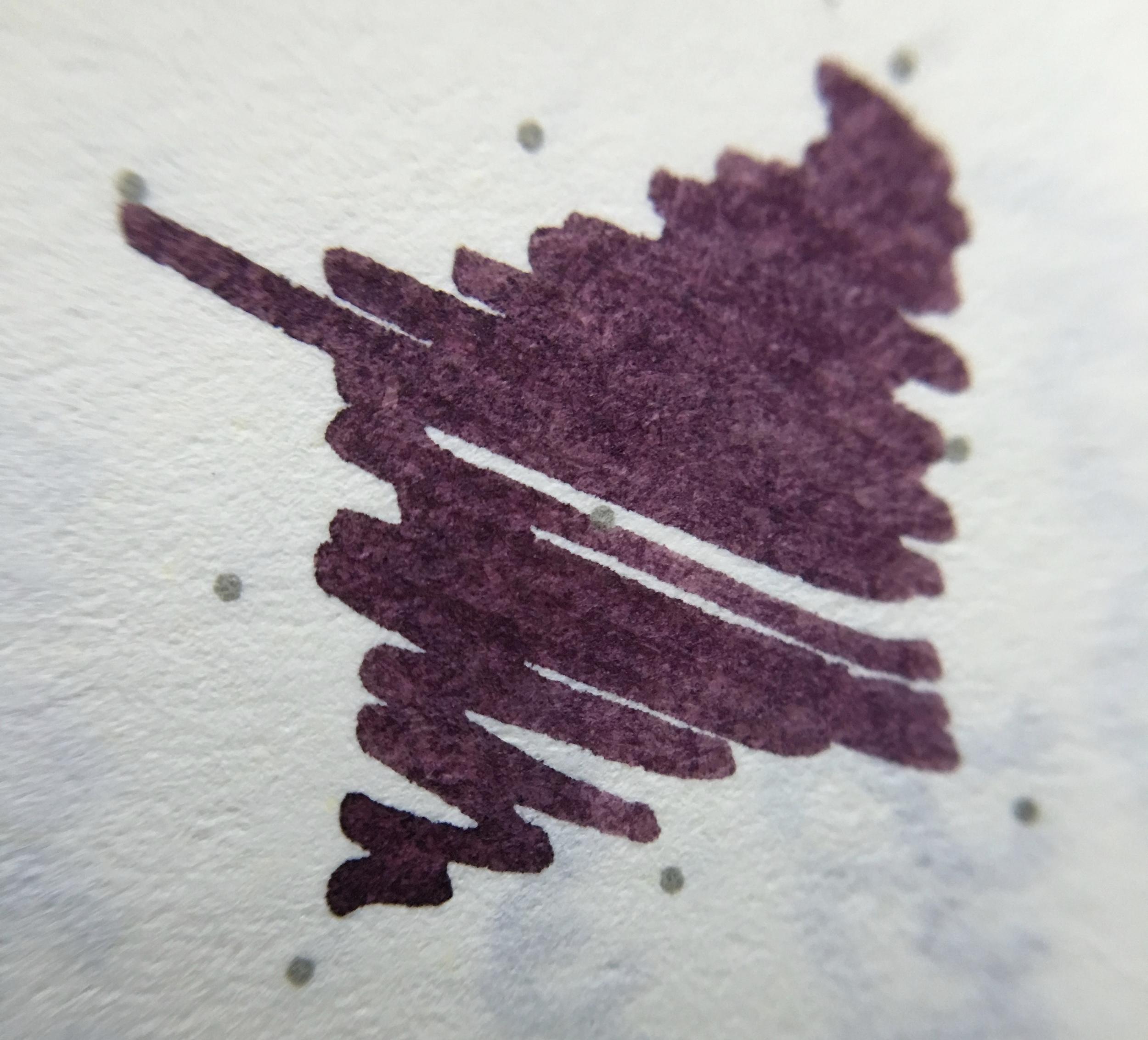 A macro shot of KWZ Brown Pink on Leuchtturm dot grid paper.