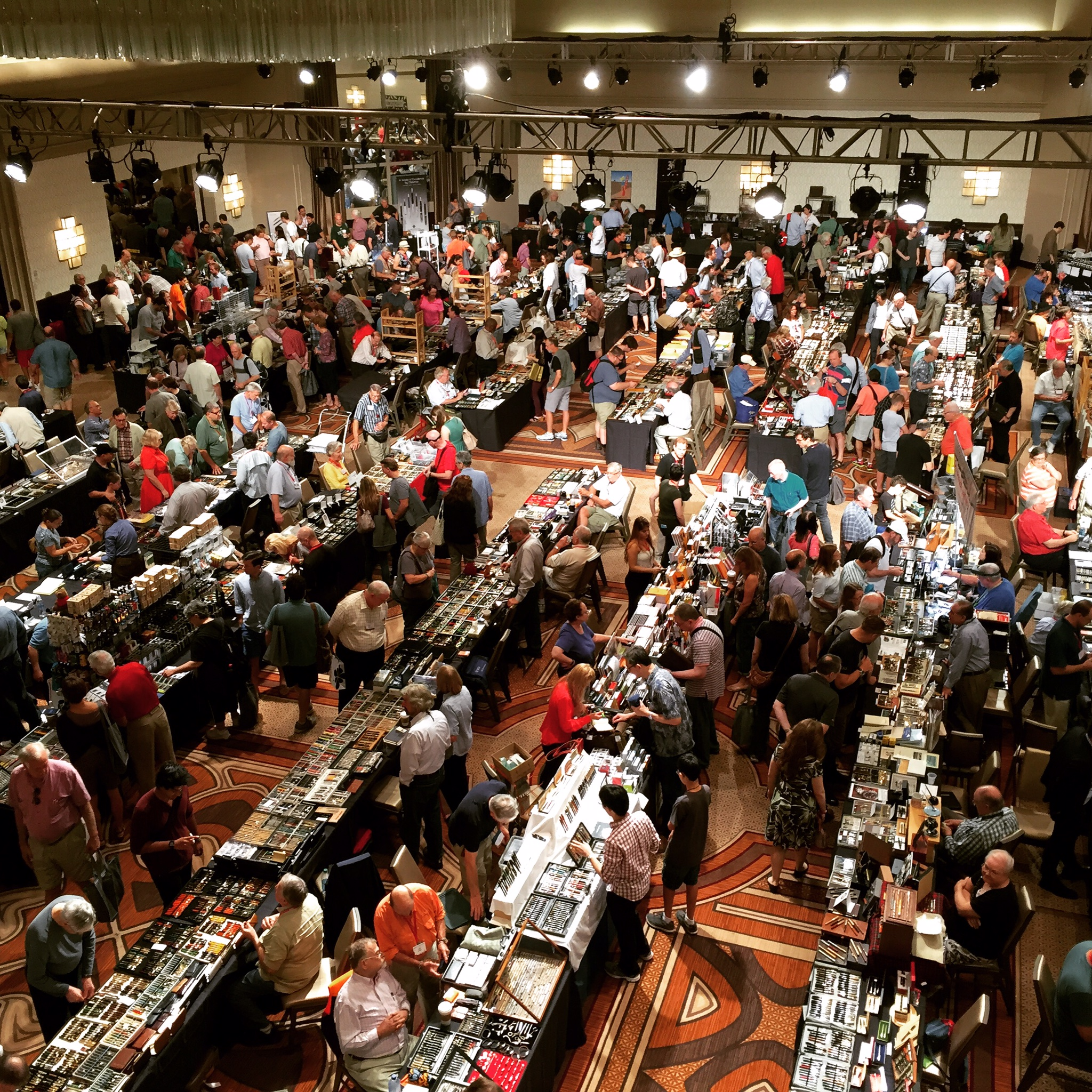 A shot of the show floor on Saturday at the 2015 Washington D.C. Pen Show. It's coming up soon. Will you be there?