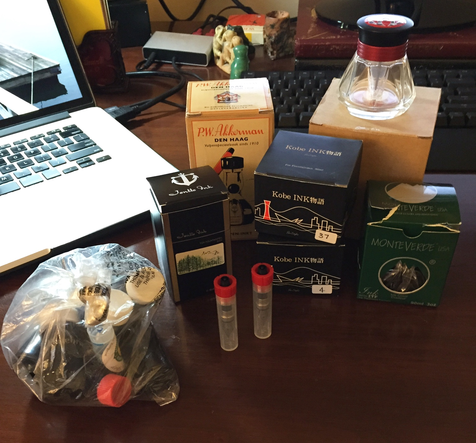 My haul from a recent pen show.