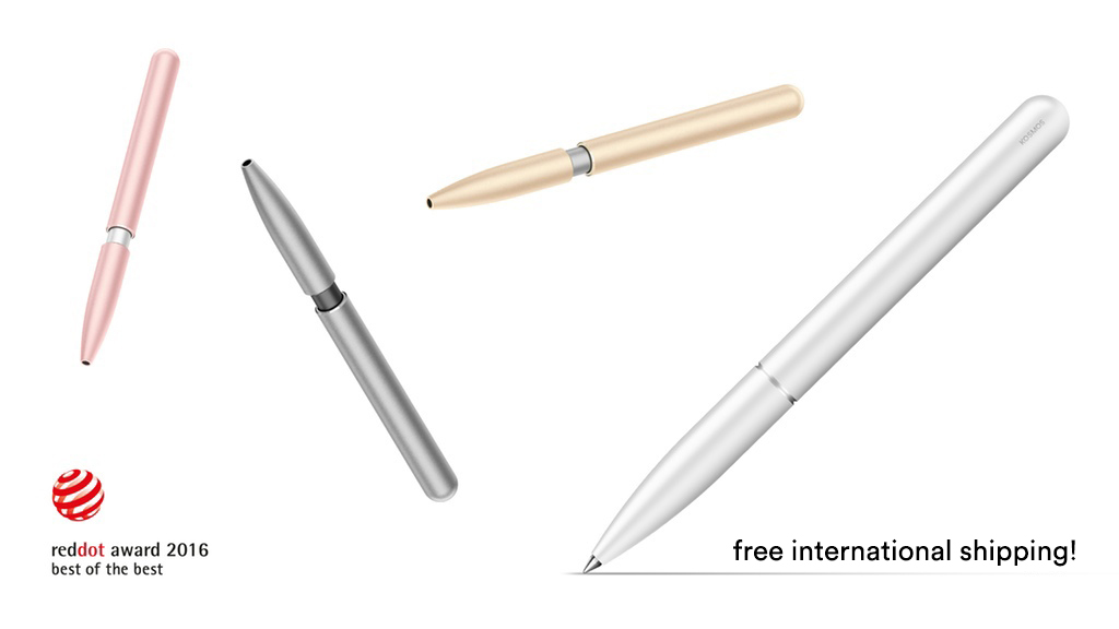 The KOSMOS Pen comes in four color options inspired by Apple devices.
