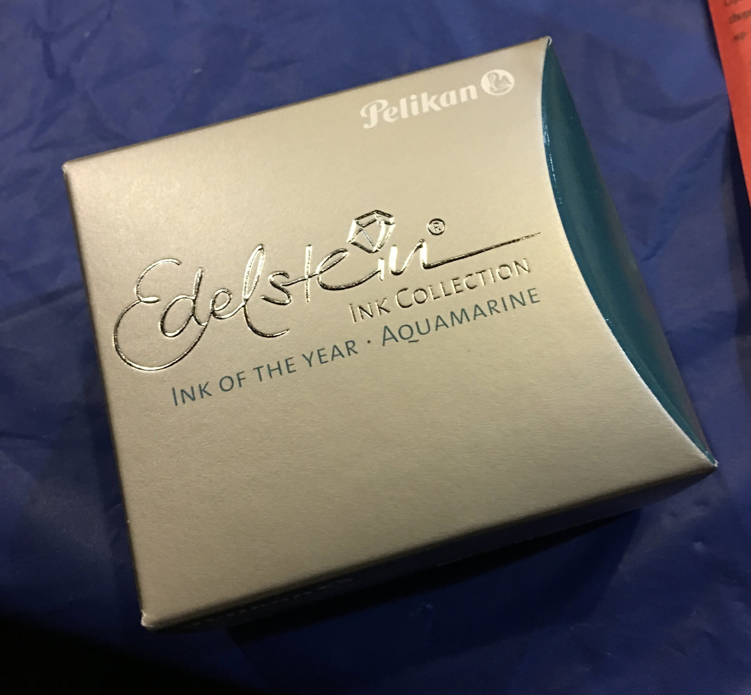 Pelikan party favors included a bottle of the 2016 Edelstein Ink of the Year, Aquamarine!