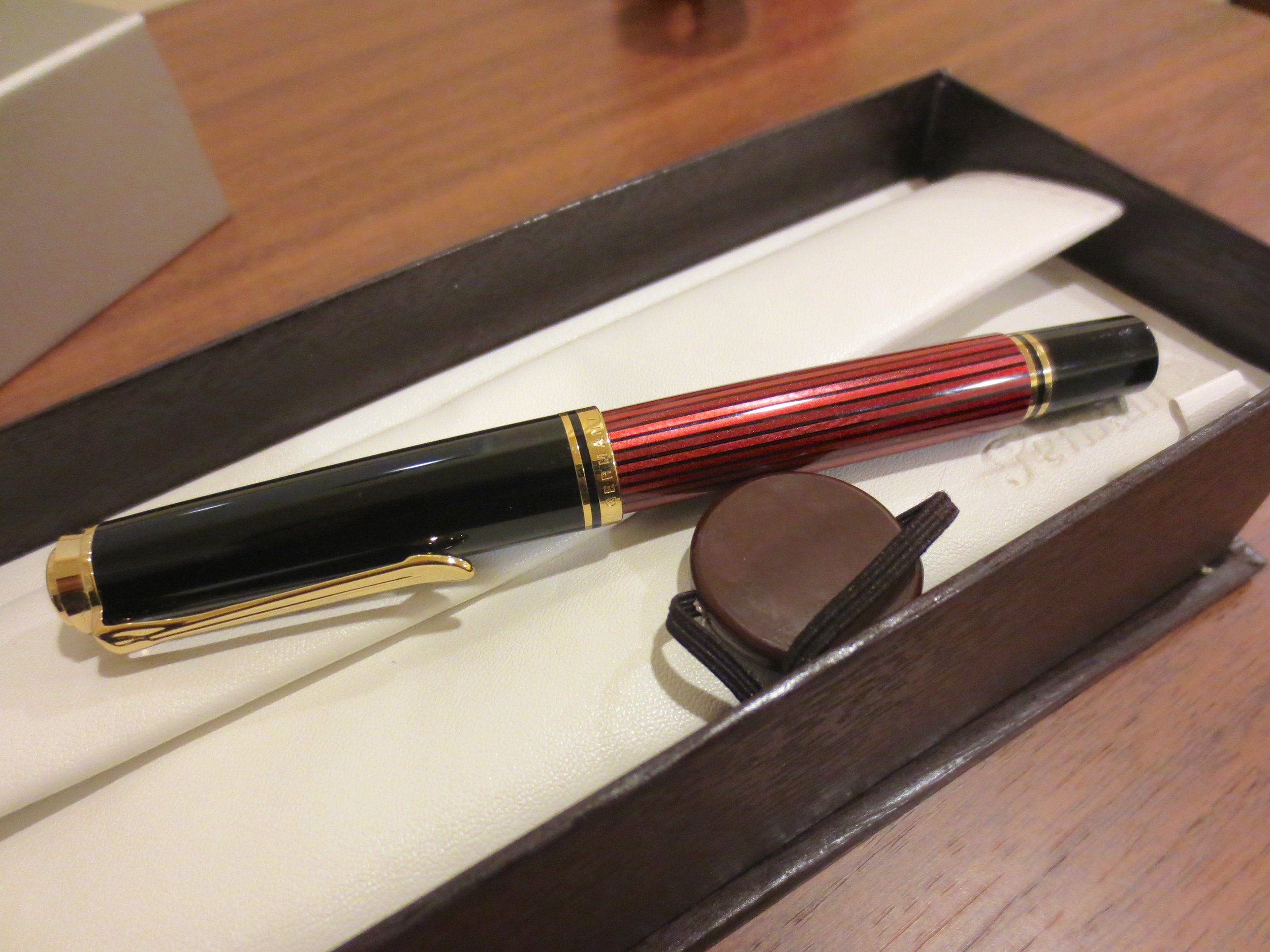 I reviewed this Pelikan M600 early on, and it's one of the pens that stuck in the rotation, along with my Montblanc 146.