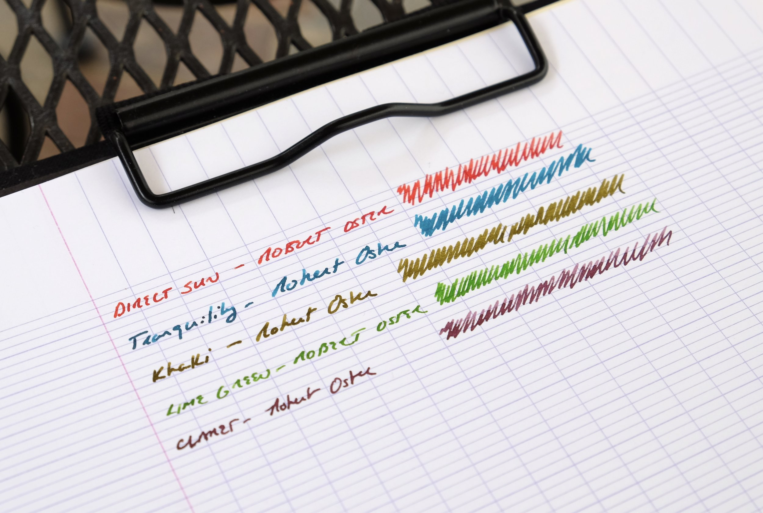 Many thanks to Vanness Pens for sending over samples of these five Robert Oster inks to review!