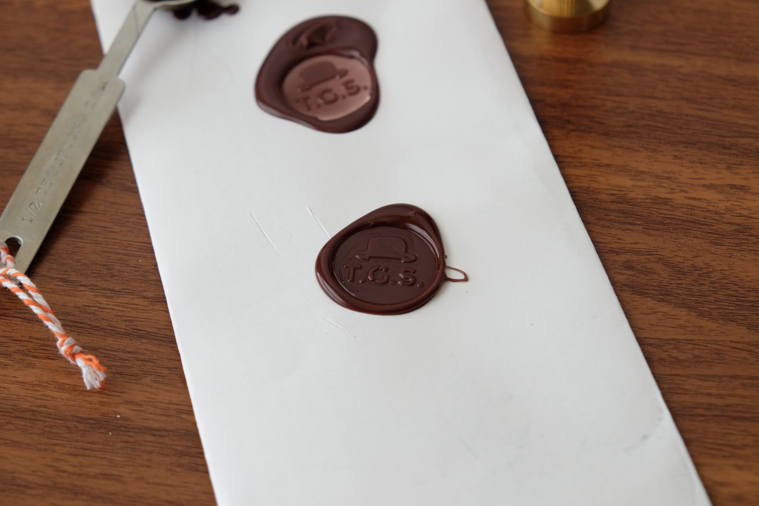 Eventually I got the hang of it. Some wax seals turned out better than others.