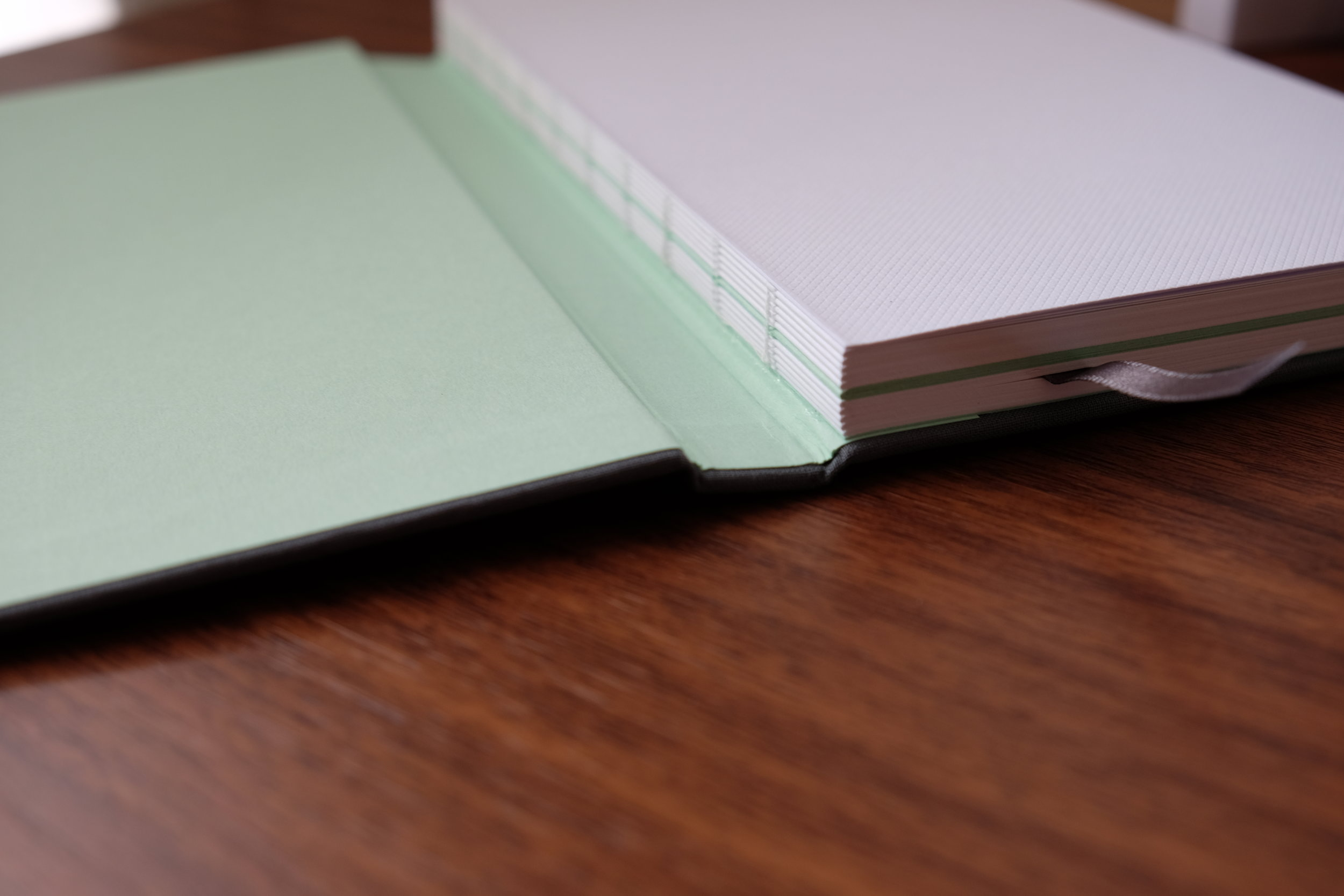 The MOO Notebook's unique binding and center seam
