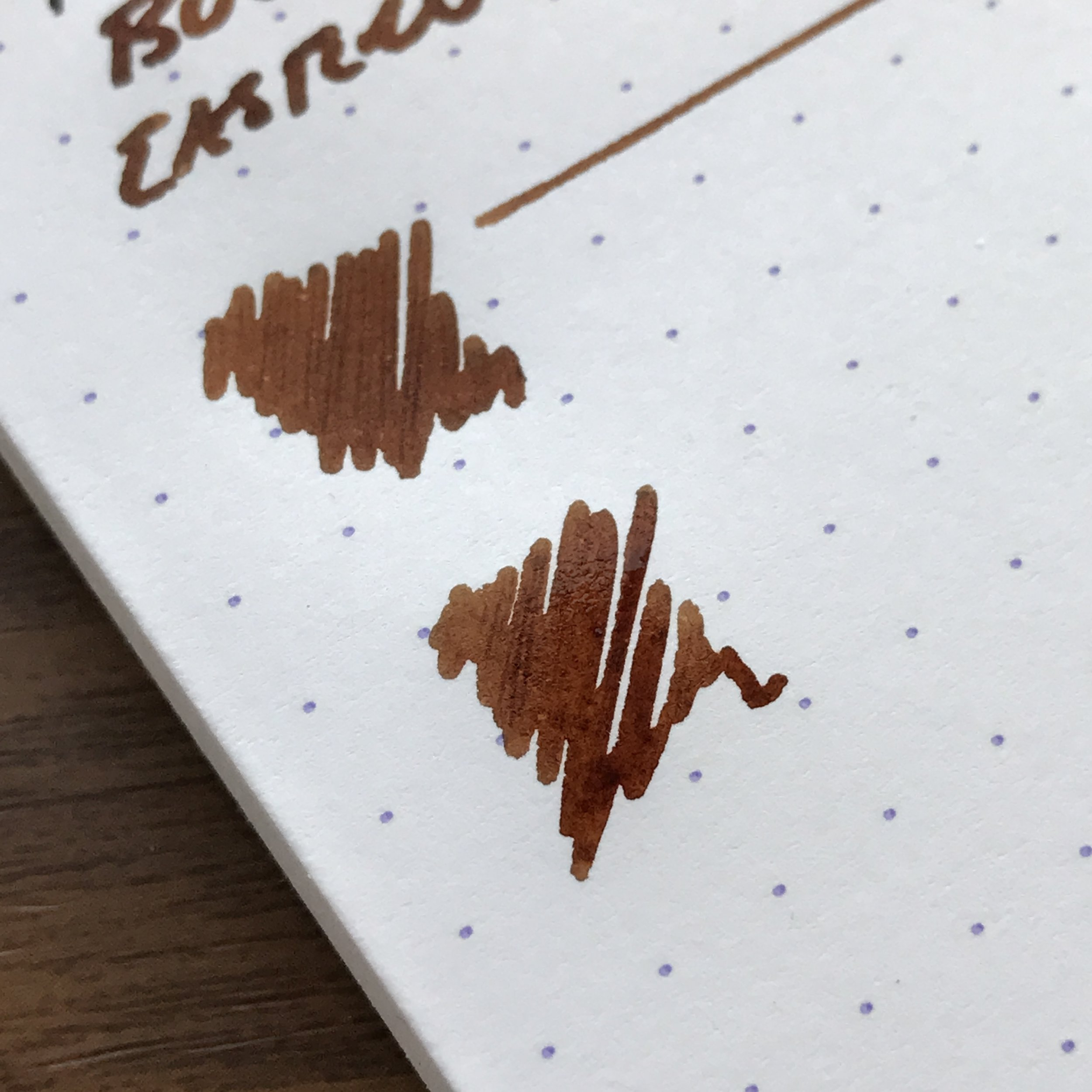 You may recall this shot of the Eastern Brown Snake from my Faber Castell e-Motion review a few weeks back. This ink is a rich brown that can have some reddish tones, depending on how the light hits it.
