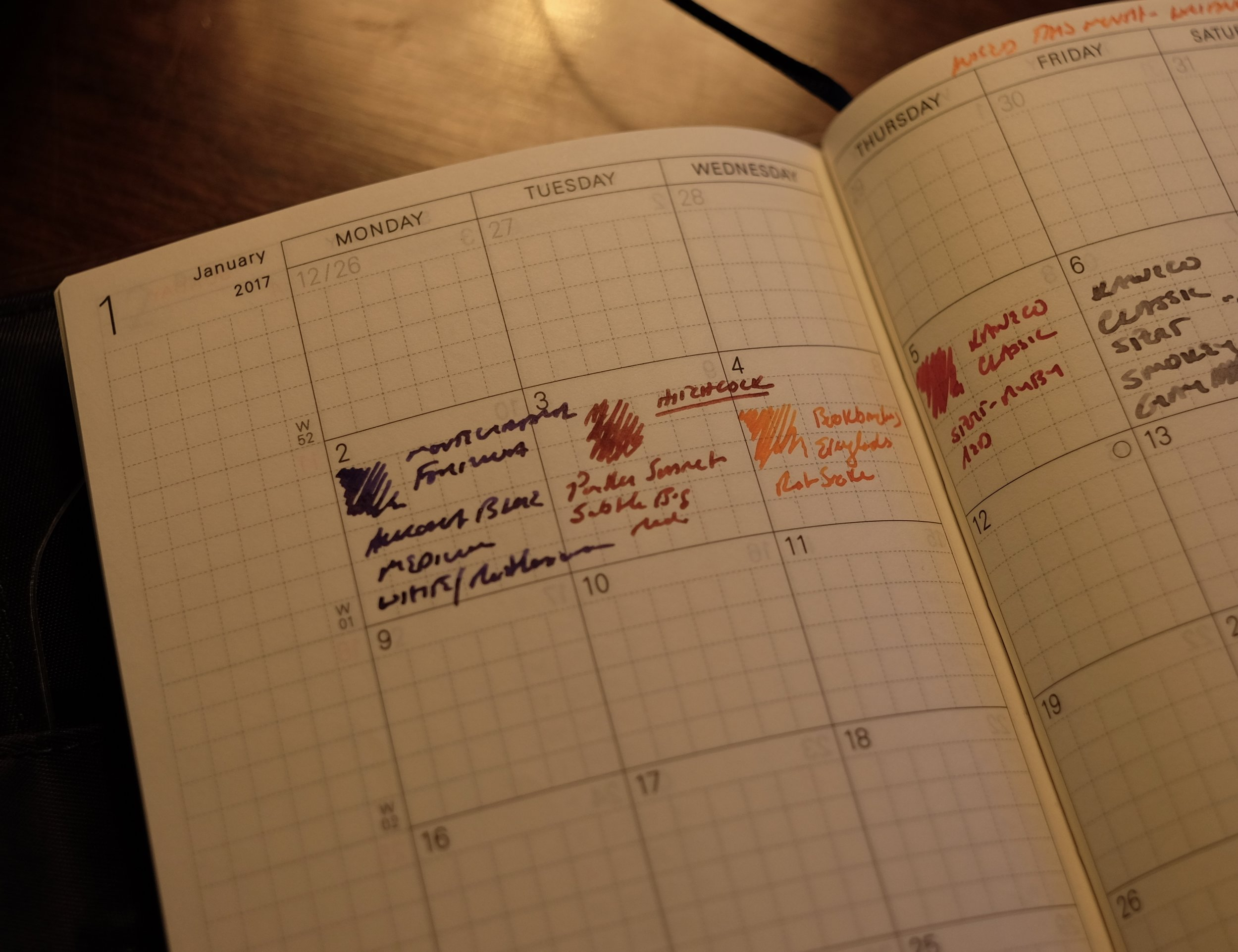 Month on Two Pages