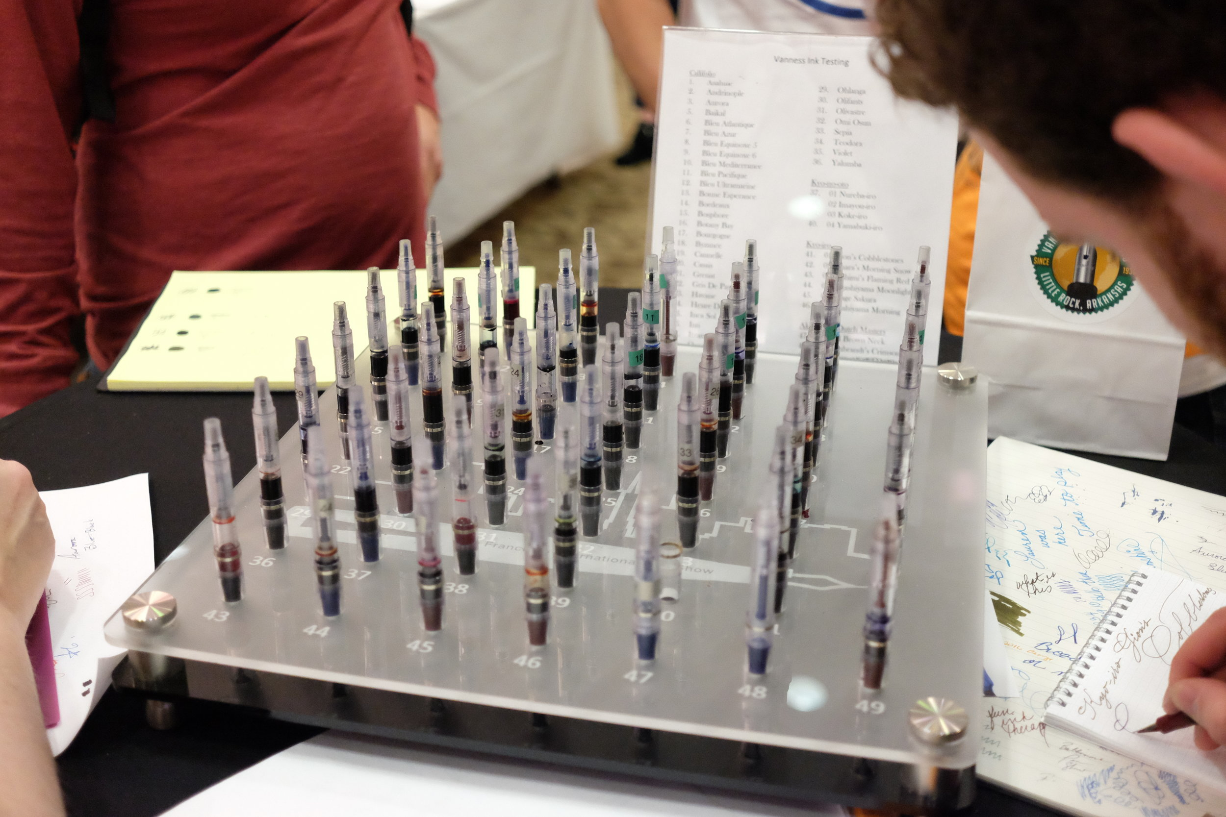 BWI Pen Show 2017 Vanness Ink Testing