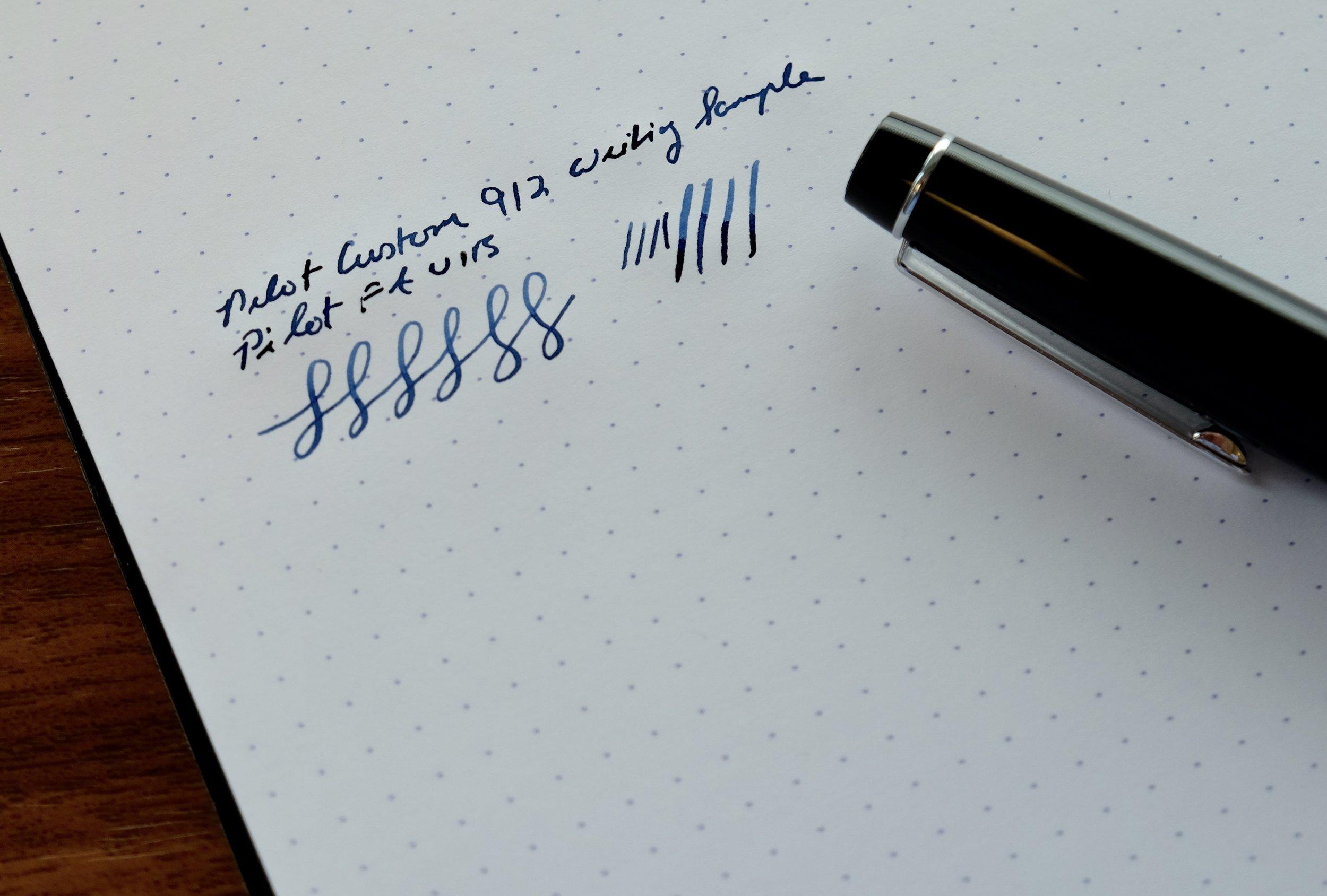 Pilot-Custom-912-FA-Nib-Writing-Sample