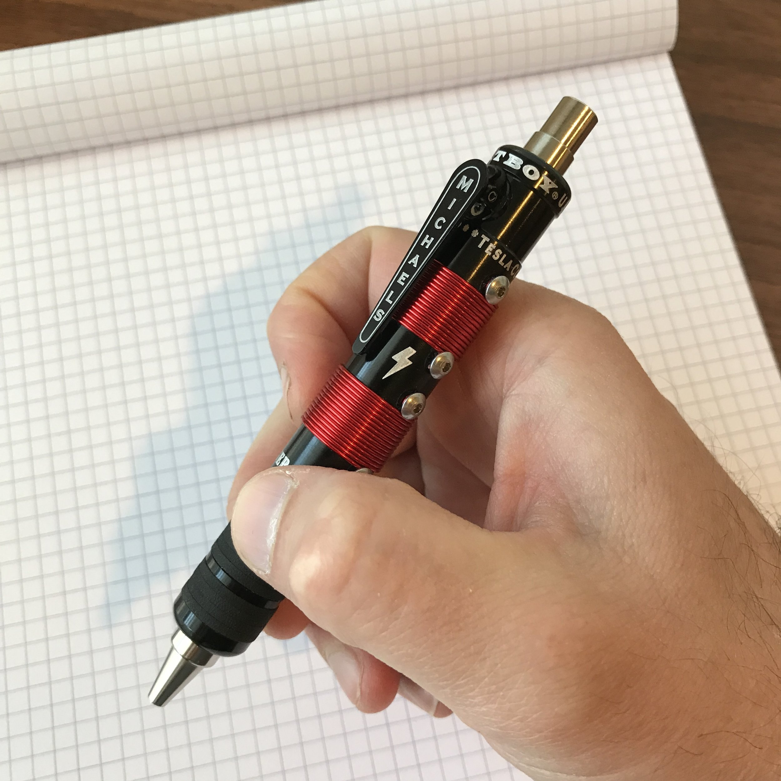 "The length and balance on this pen is perfect, but it's a little too ""fat"" for me to hold comfortably for long periods of time. To compare, the pen has a similar feel to fatter fountain pens like the Pelikan M1000, Montblanc 149, Delta Dolcevita Oversize, or even a Jinhao 159."