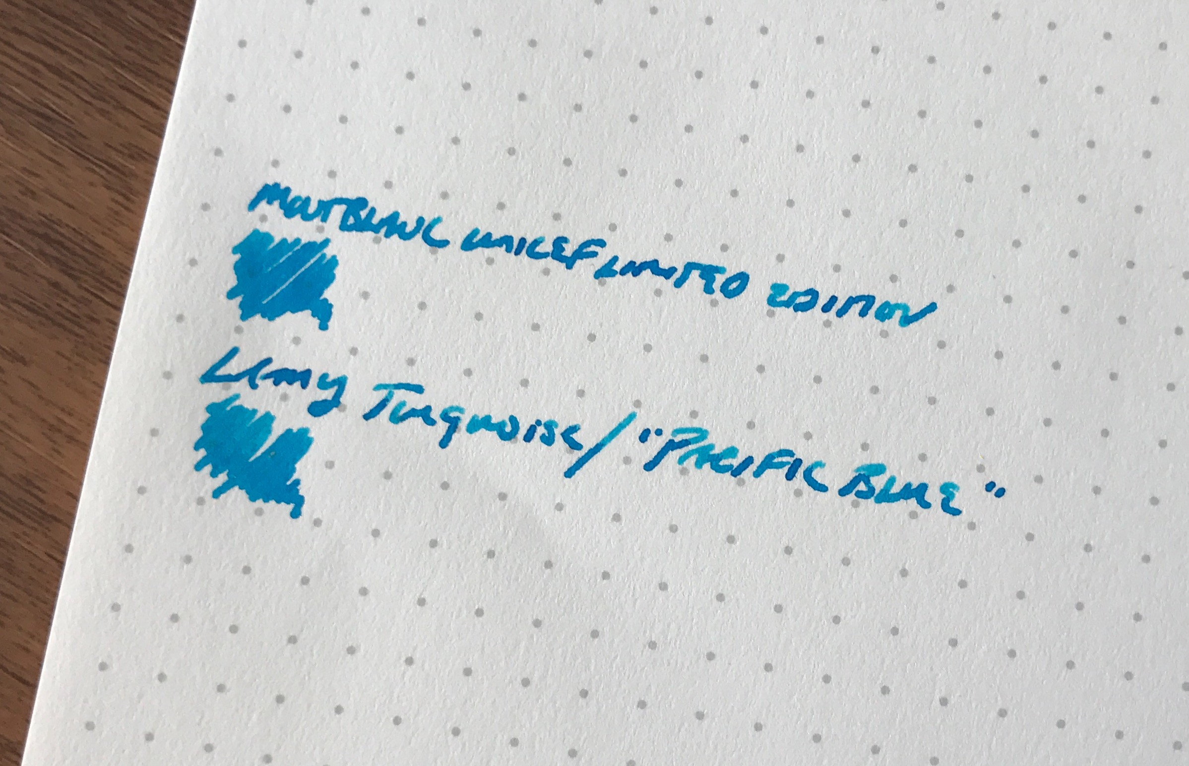 Writing-Sample-Turquoise-Ink