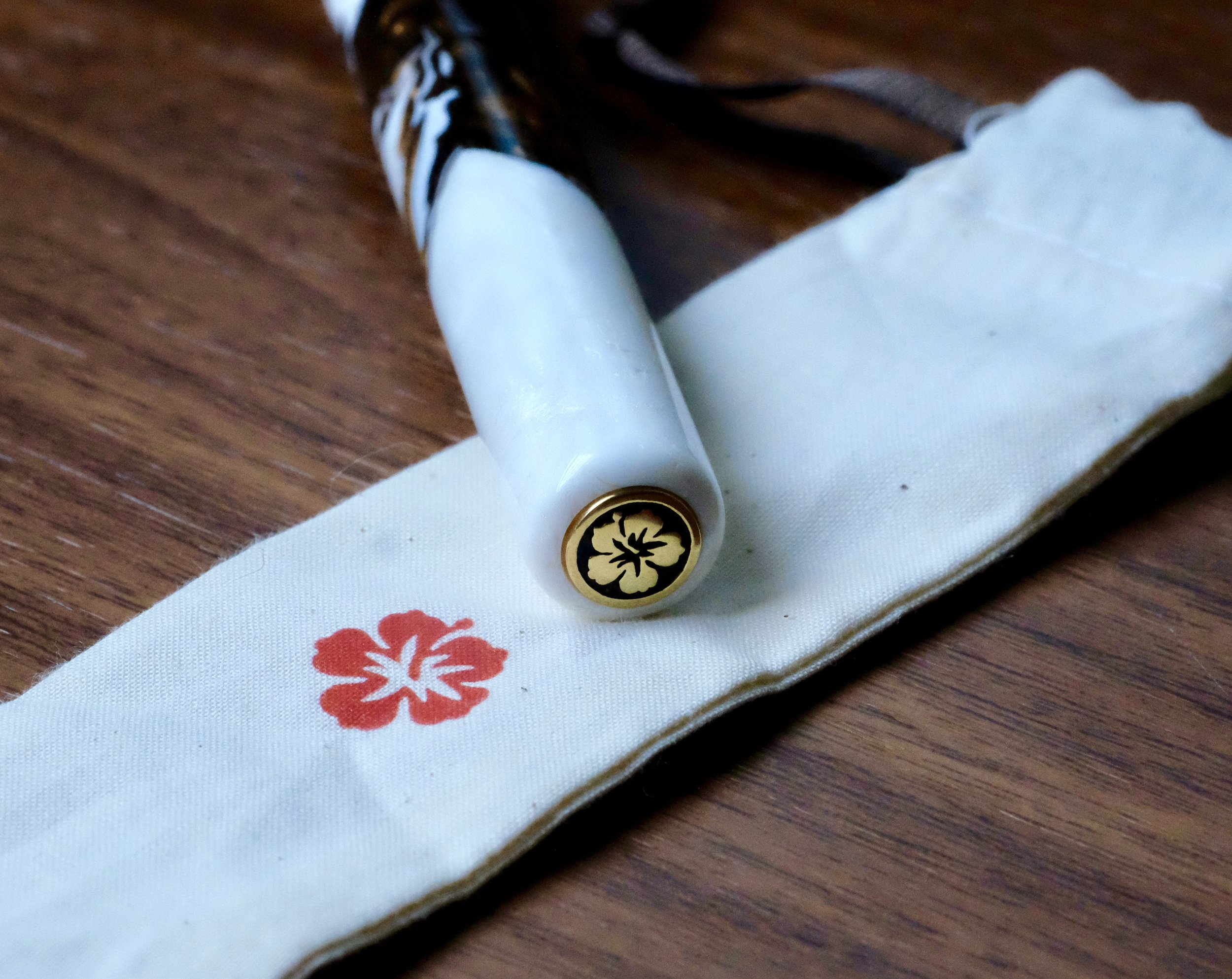 Each Kanilea pen features a sterling silver or plated sterling silver medallion inset into the cap.