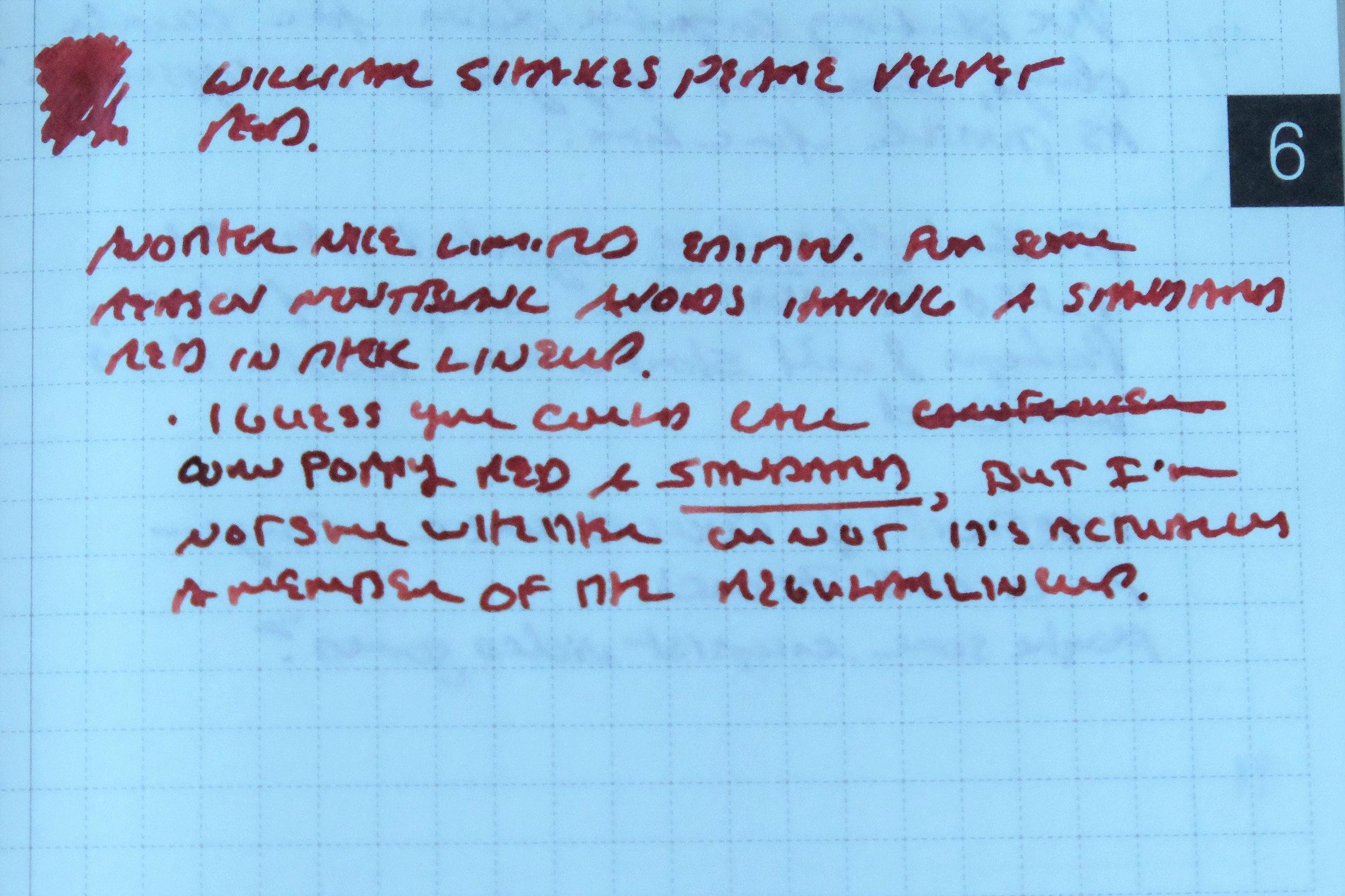 William Shakespeare Velvet Red Writing Sample