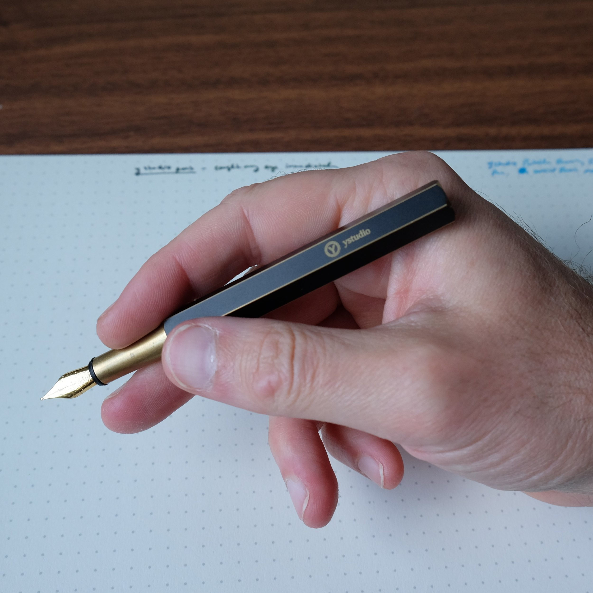 ystudio Portable Fountain Pen In Hand