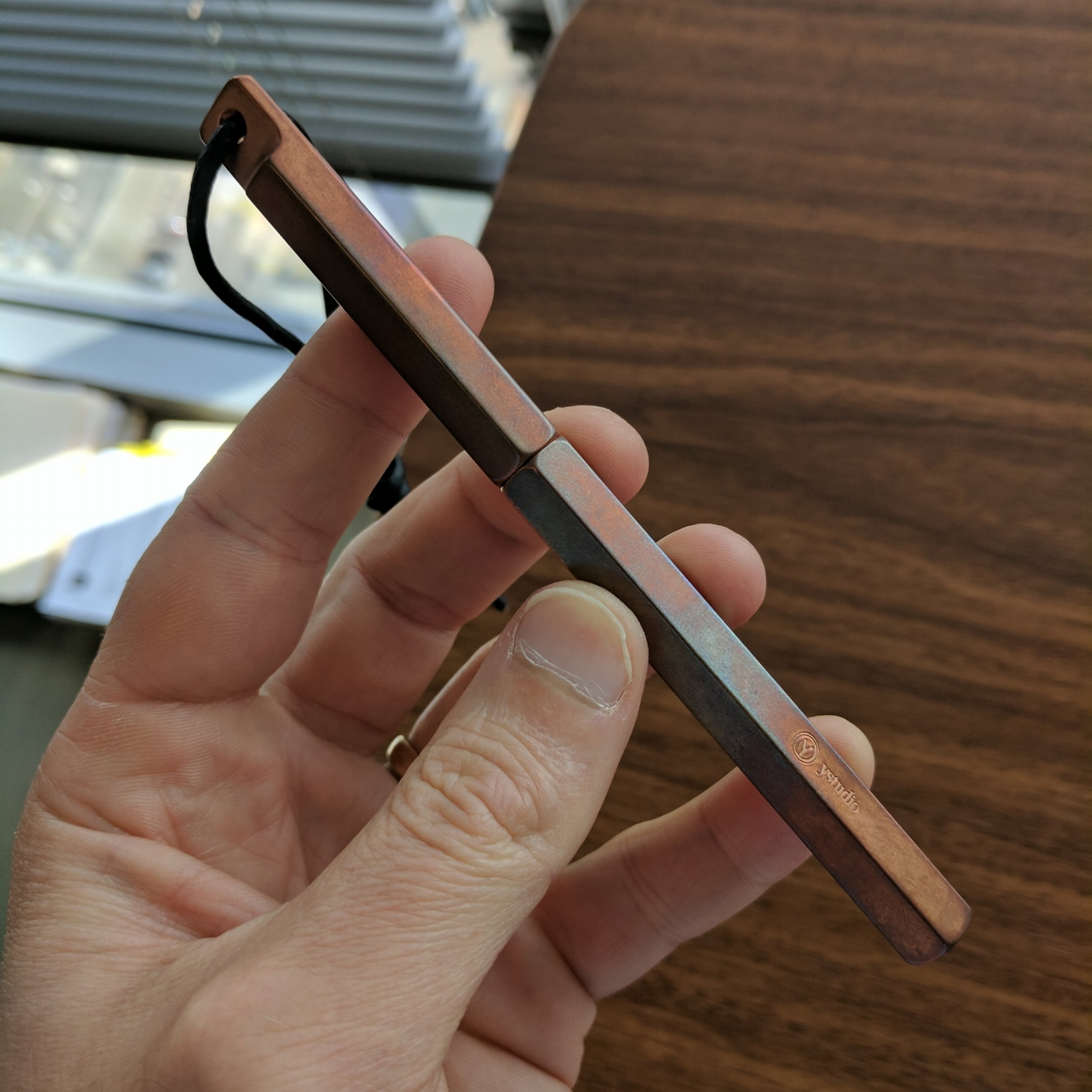 Check out that bluish patina on the copper ystudio Portable!