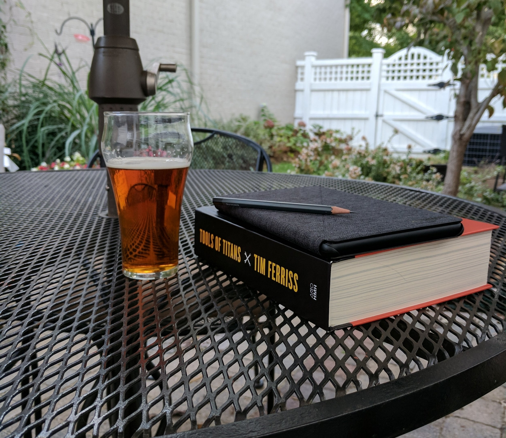 It's that time of year again, when the temps start dipping below 80, the mosquitoes start to die, and it's pleasant to read outside.