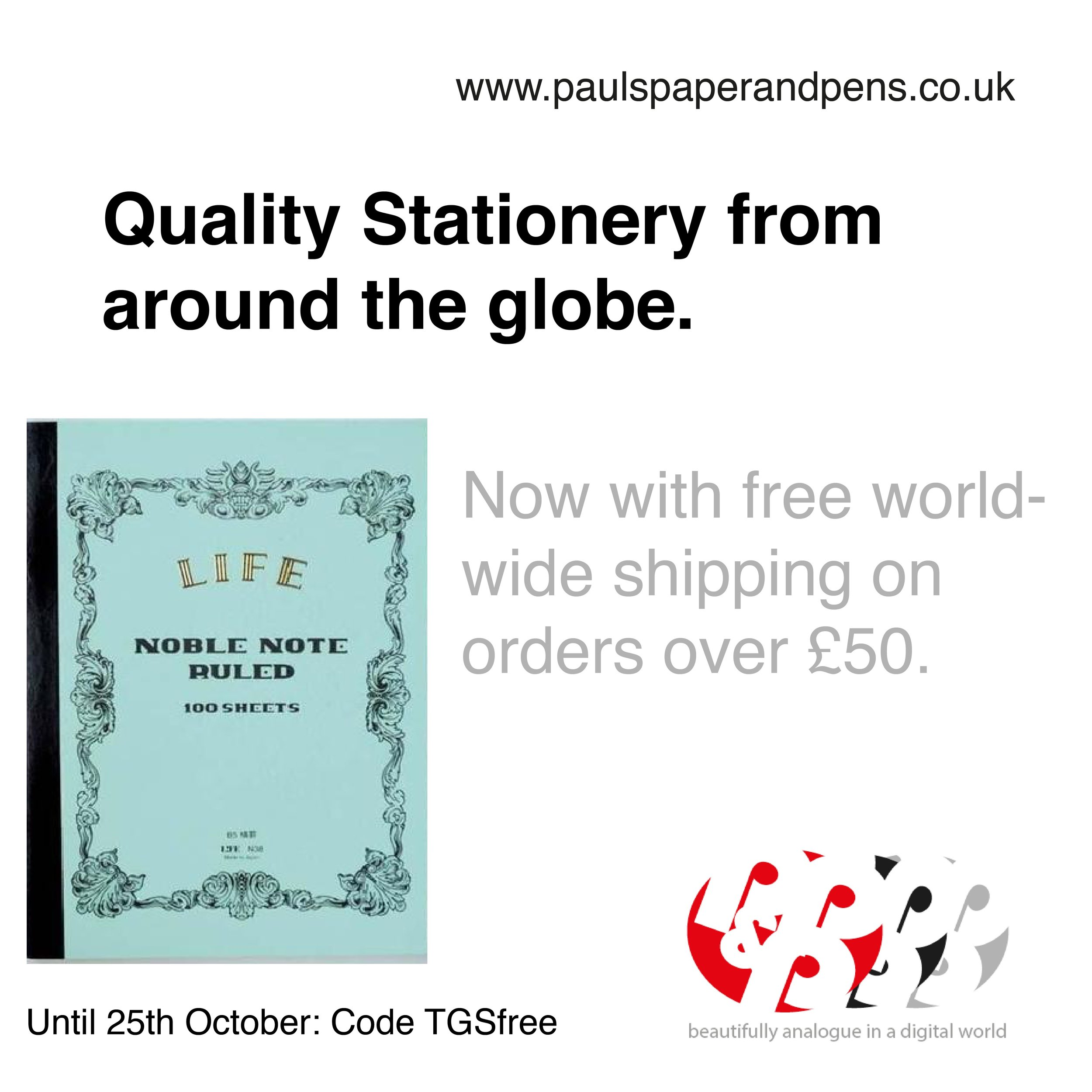 Paul's-Paper-Pens-Free-Shipping-Offer