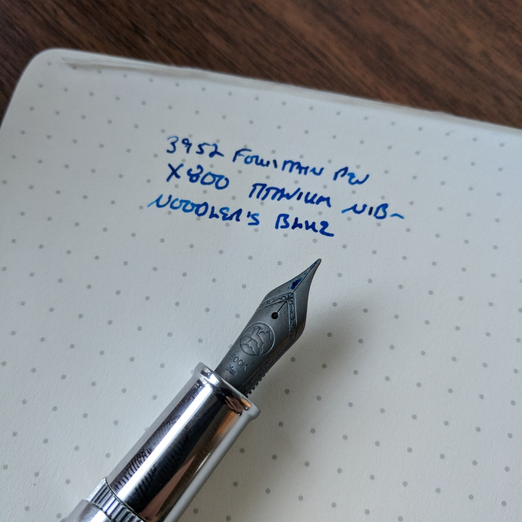 If you want to swap a Titanium nib into this pen, you probably will want to use the feed that came with the Ti nib unit, since Titanium nibs generally have heavier flow and the feed channels are cut differently.