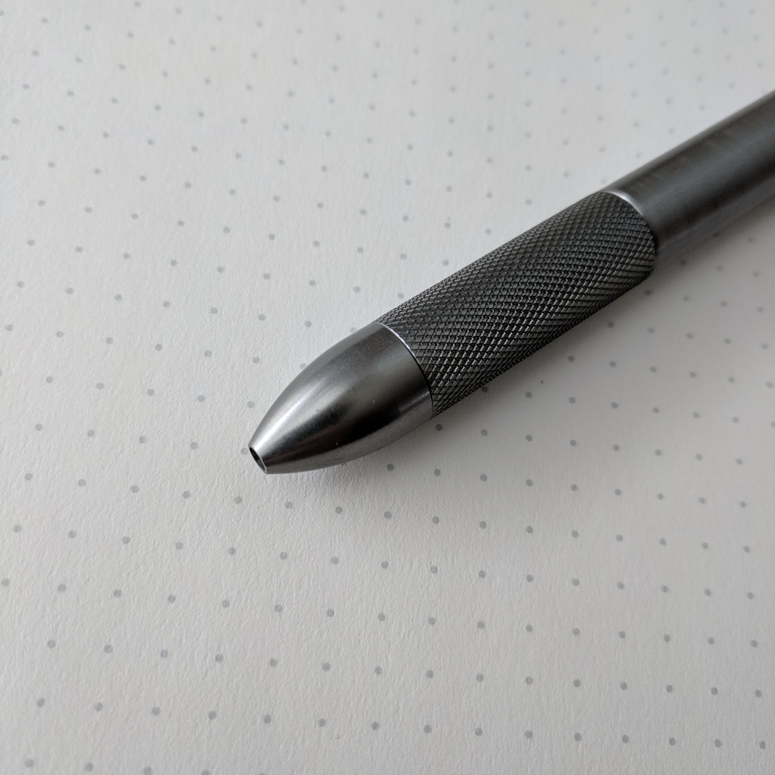 Textured Grip on Gray Pen
