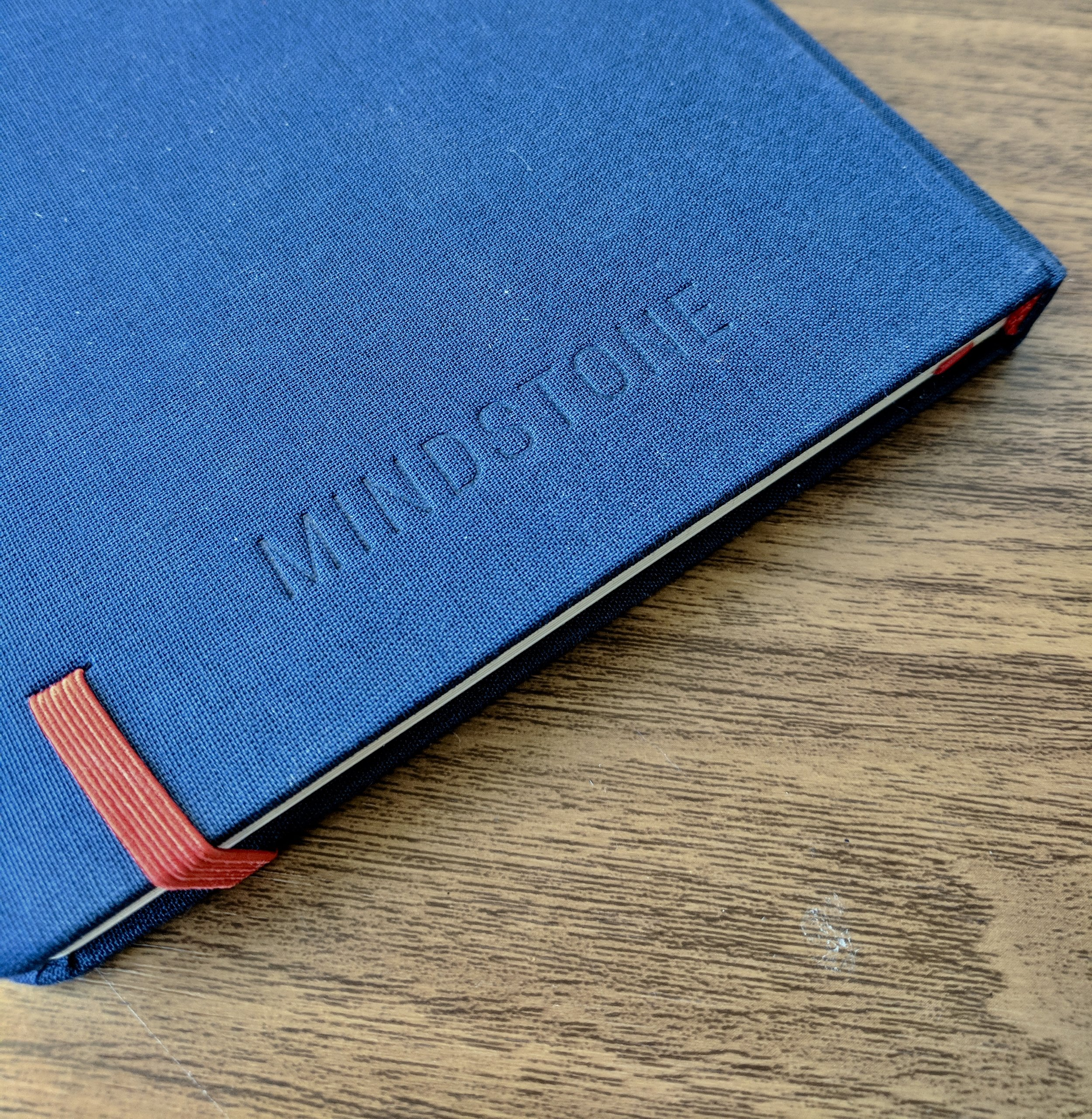 There is little to no branding on the outside of the Mindstone Notebook, save for an imprint on the back cover. Very understated.