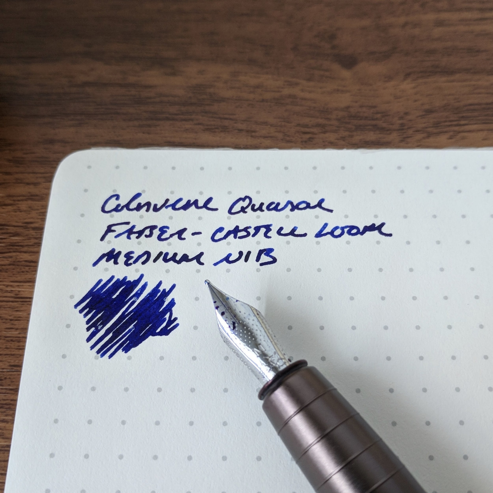 No issues with bleedthrough, feathering, or smearing on  Baron Fig Mastermind  paper. Even on office paper, this ink performed decently.