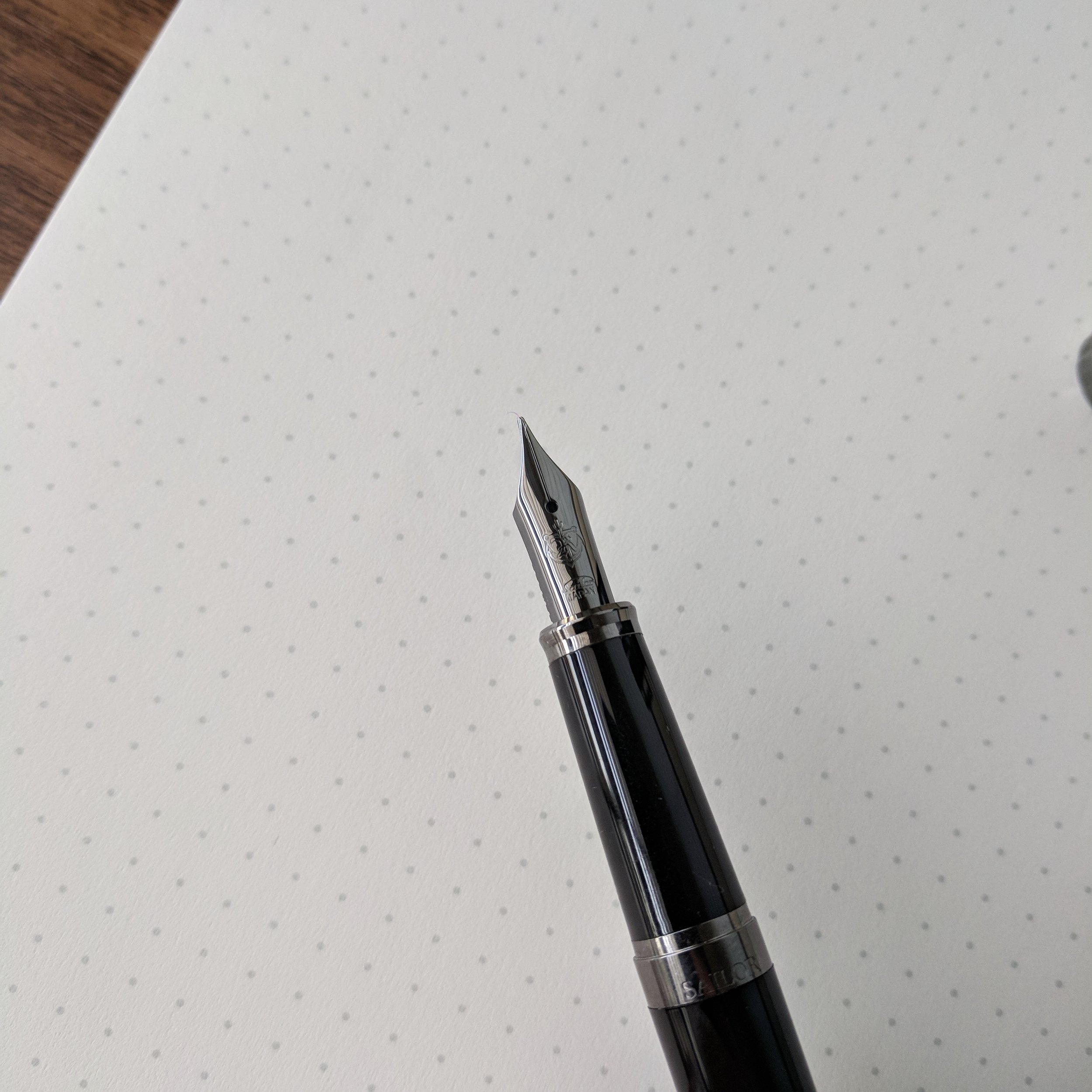 The nib on the Sailor Reglus is slightly smaller than the typical 1911/Pro Gear nibs, and has a different, slightly more understated, engraving. I like the look!