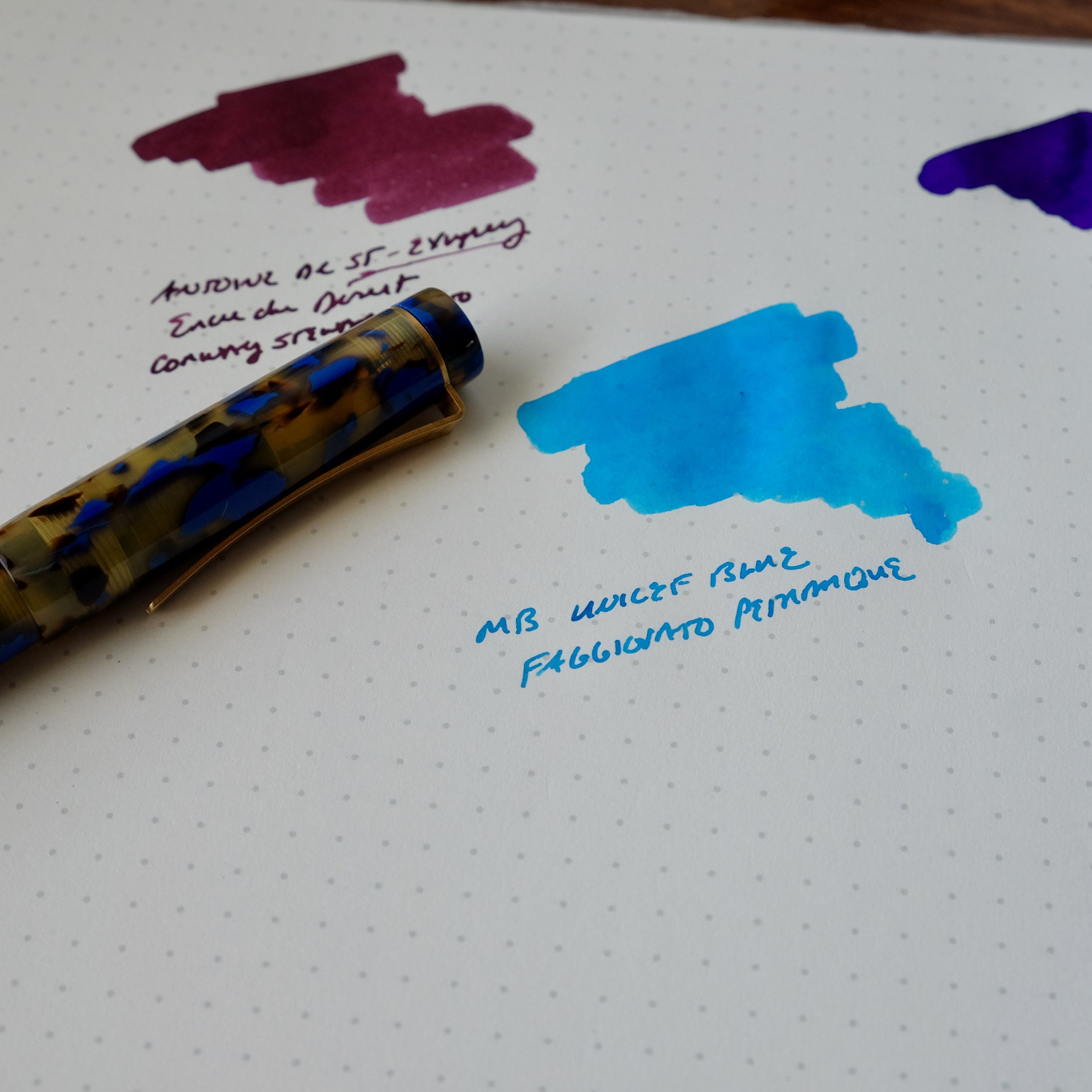 Review Pen:  Faggionato Petrarque in Blue Tortoise , available at Papier Plume.