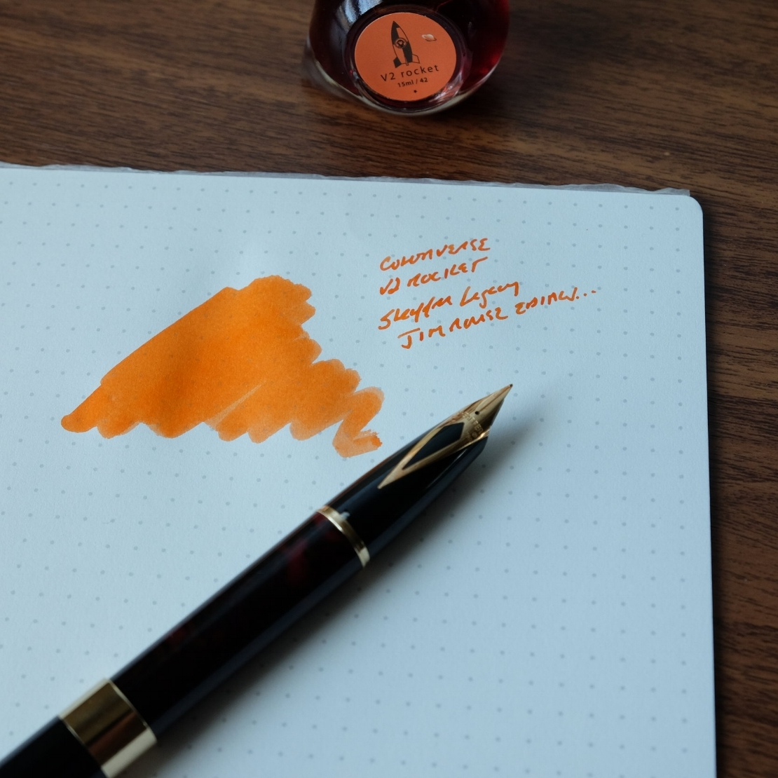 Colorverse V2 Rocket in my Jim Rouse Sheaffer Legacy.