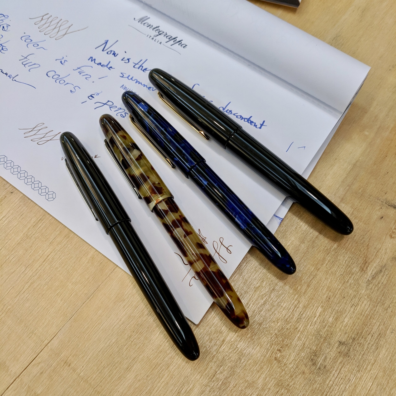 "Kenro ""soft launched"" the new series of Esterbrook pens at the 2018 D.C. Pen Show. They sport a much more classic design than the first round of modern Esterbrooks."
