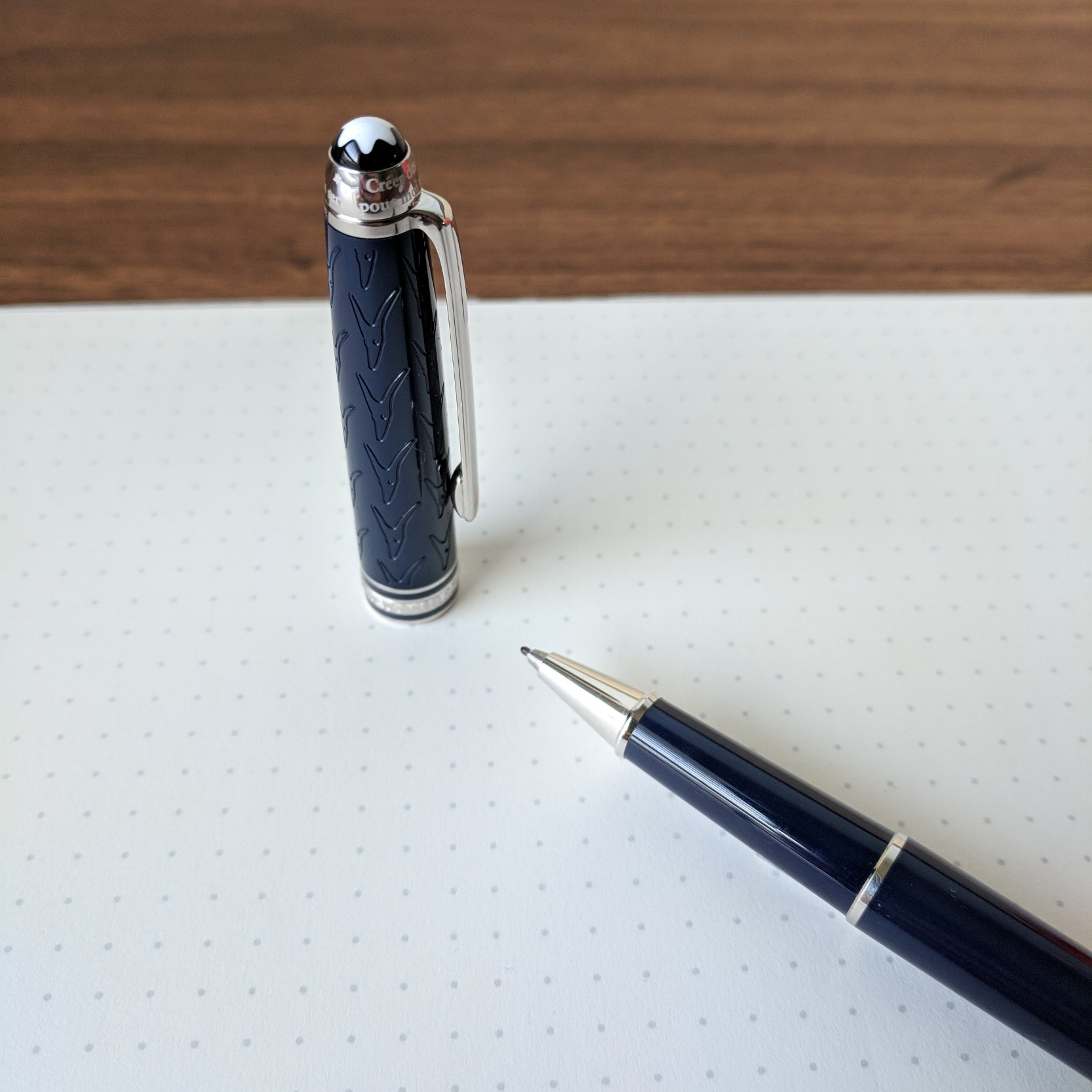 I've had this pen loaded with Montblanc's excellent fineliner refill, and haven't use much else, though the rollerball refills are also superb (if not the most wallet-friendly).