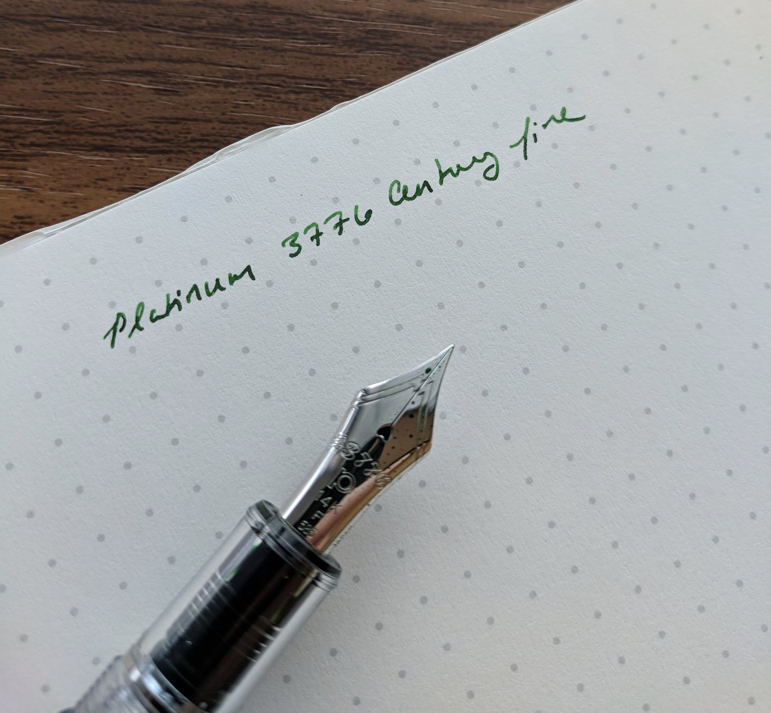 Platinum 3776 Fine Nib Writing Sample