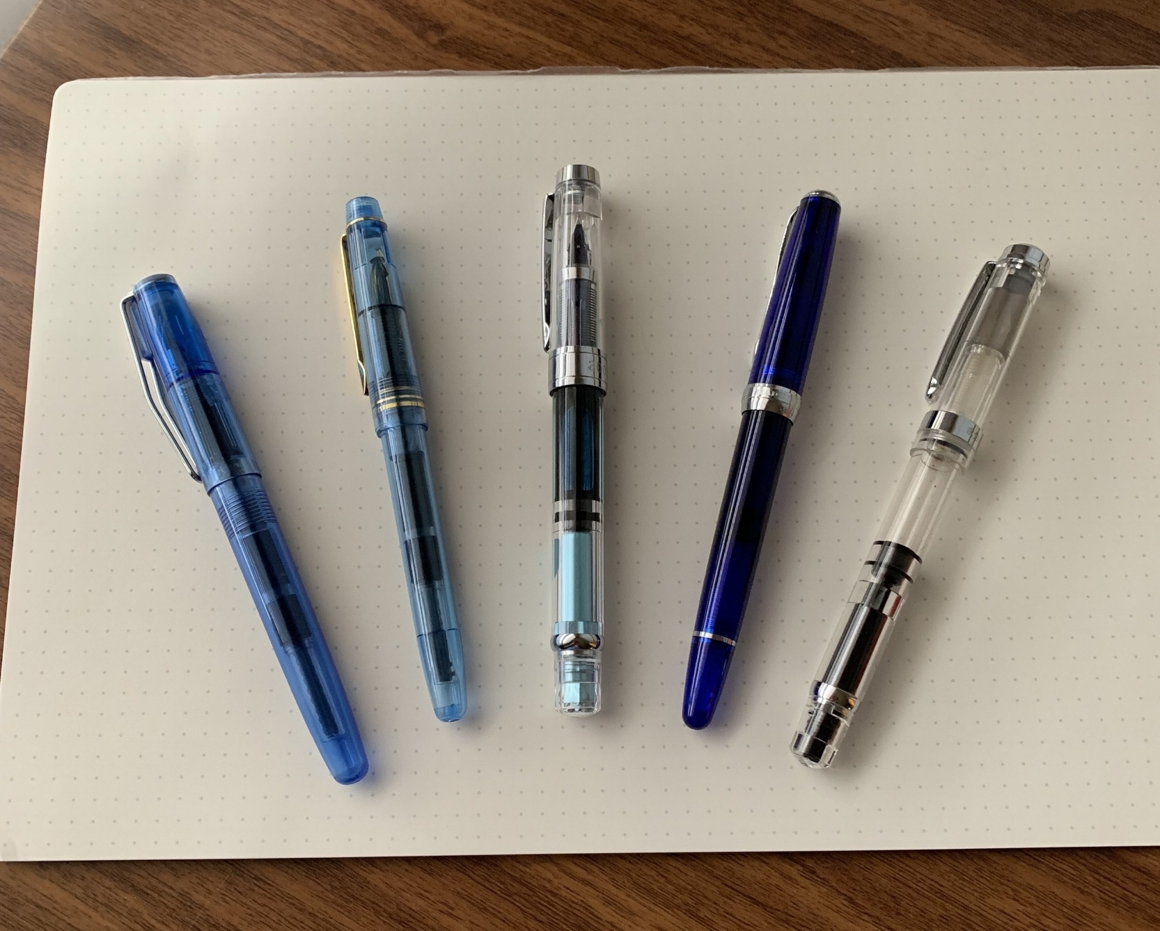 From left: Wing Sung 3010, Wing Sung 3001, Wing Sung 3008, Wing Sung 618, and Wing Sung 698.