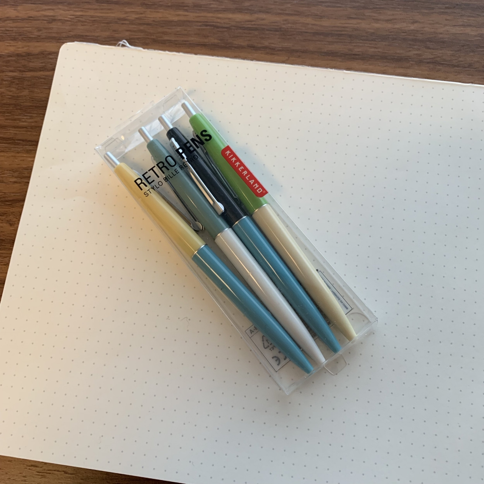 "No I didn't get shortchanged. These Kikkerland ""Retro"" pens are sold in packs of five, but one of the pens is living in my travel backpack."